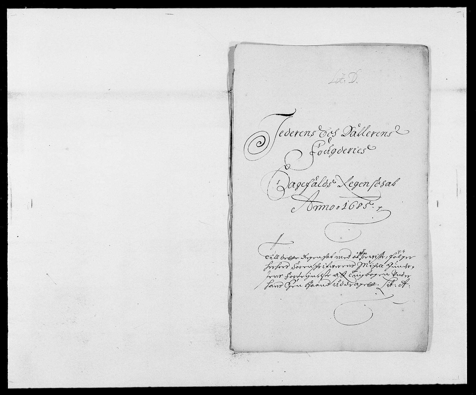 RA, Rentekammeret inntil 1814, Reviderte regnskaper, Fogderegnskap, R46/L2725: Fogderegnskap Jæren og Dalane, 1685, s. 113