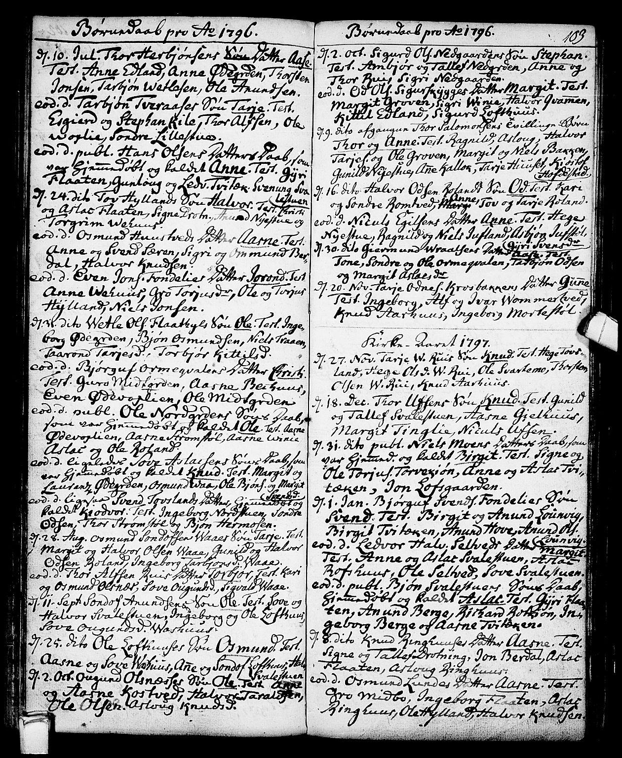 SAKO, Vinje kirkebøker, F/Fa/L0002: Ministerialbok nr. I 2, 1767-1814, s. 103