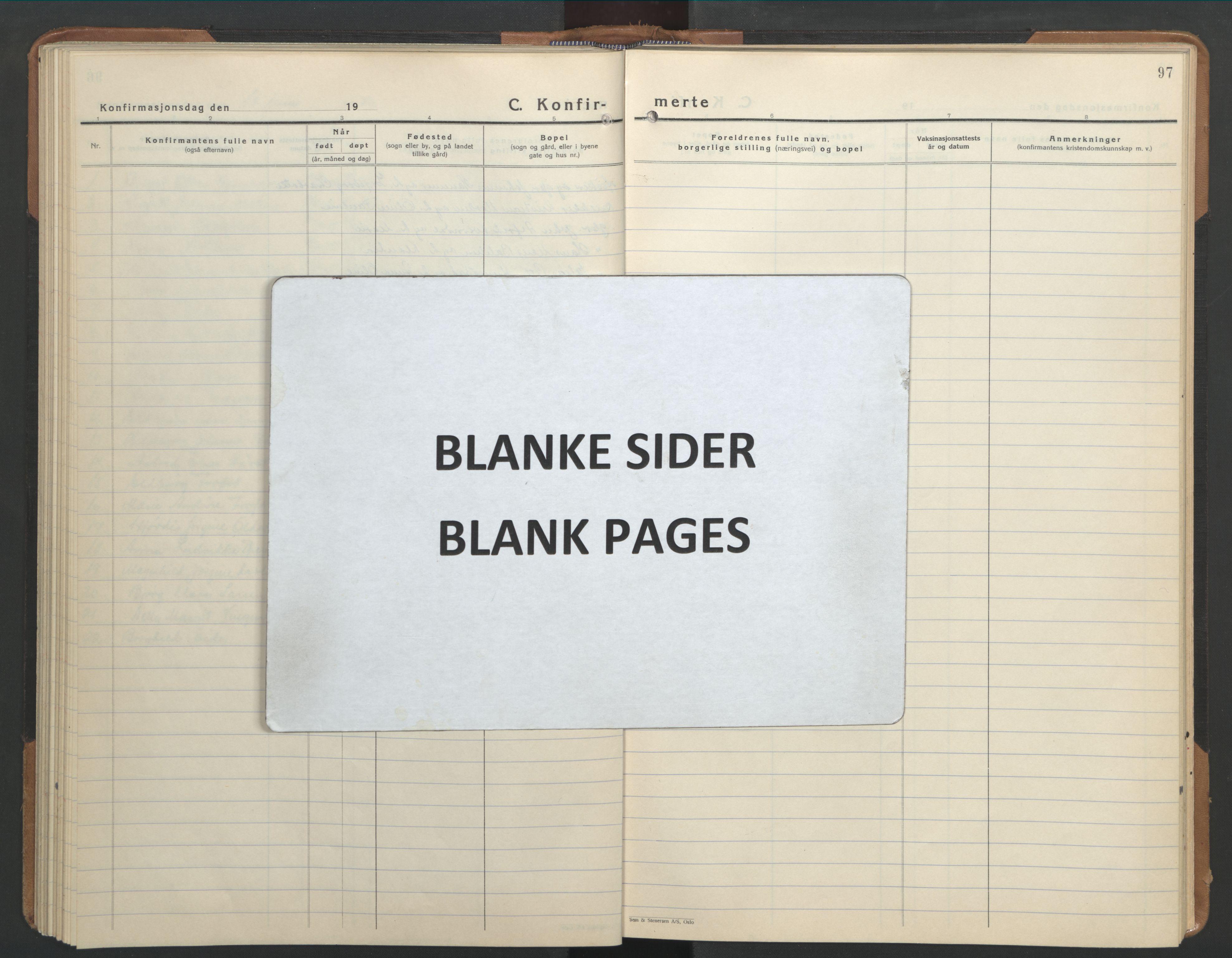 SAT, Ministerialprotokoller, klokkerbøker og fødselsregistre - Sør-Trøndelag, 655/L0690: Klokkerbok nr. 655C06, 1937-1950, s. 97