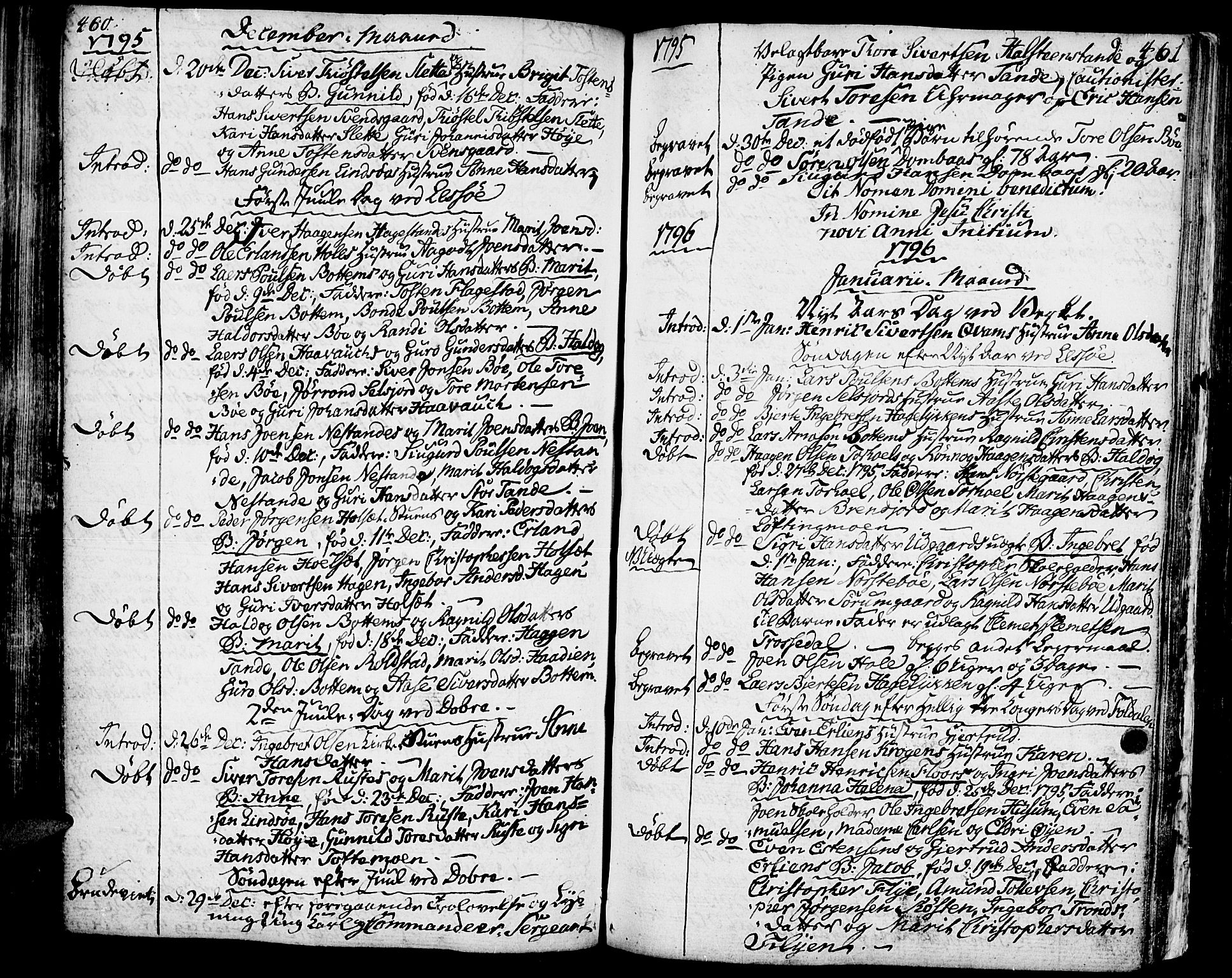 SAH, Lesja prestekontor, Ministerialbok nr. 3, 1777-1819, s. 460-461
