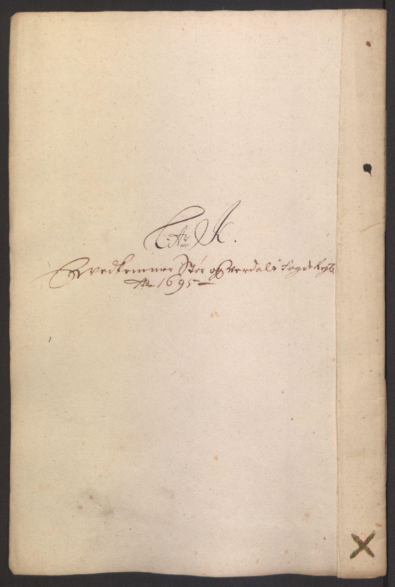 RA, Rentekammeret inntil 1814, Reviderte regnskaper, Fogderegnskap, R62/L4187: Fogderegnskap Stjørdal og Verdal, 1695, s. 135