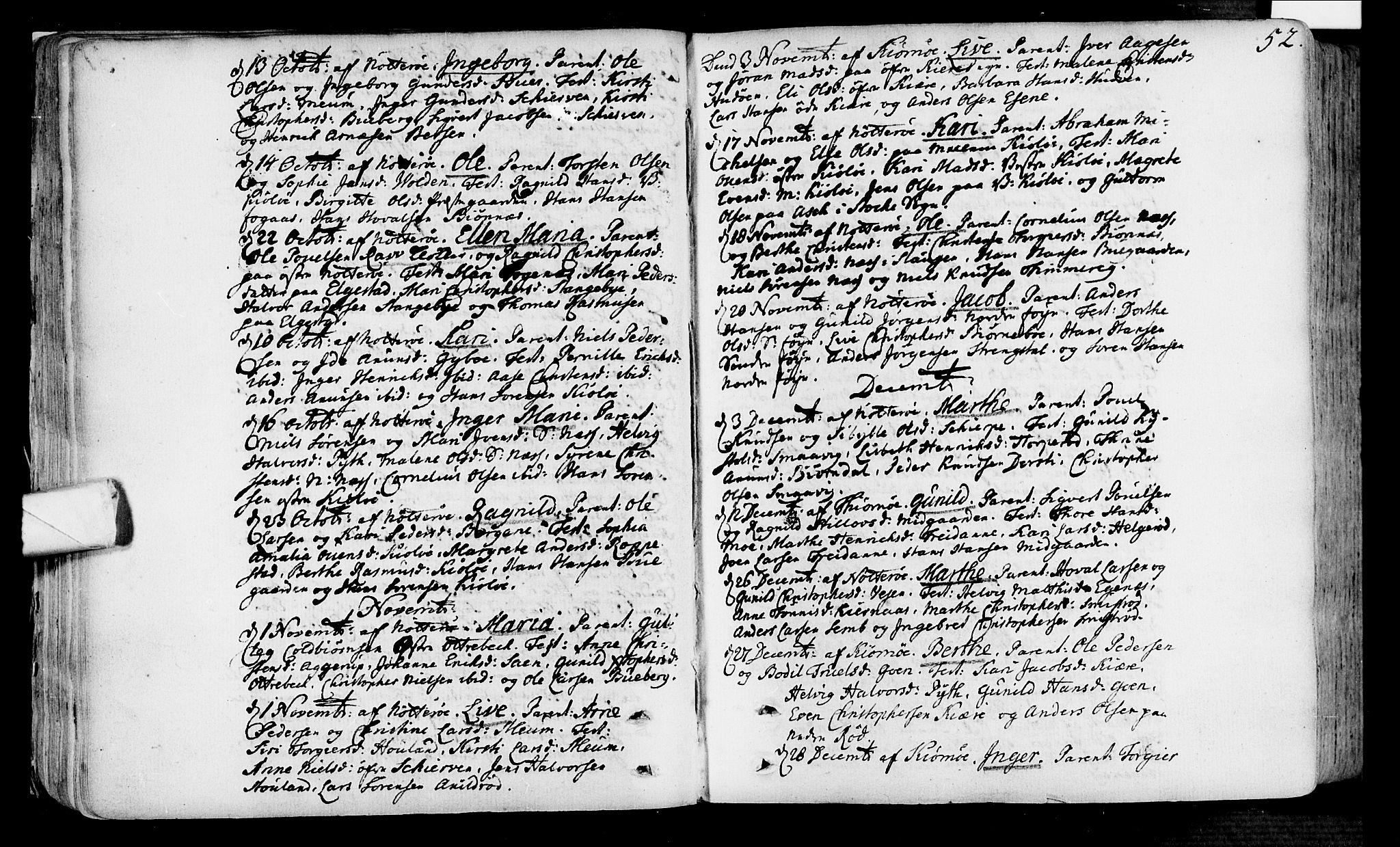 SAKO, Nøtterøy kirkebøker, F/Fa/L0002: Ministerialbok nr. I 2, 1738-1790, s. 52