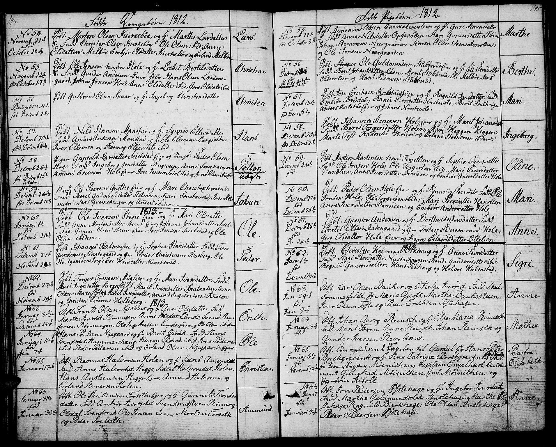 SAH, Gausdal prestekontor, Ministerialbok nr. 4, 1809-1817, s. 194-195