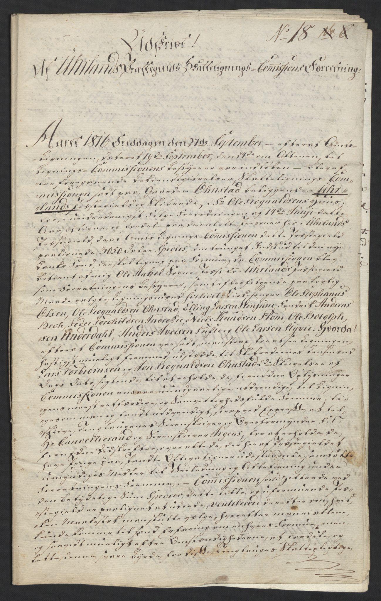NOBA, Norges Bank/Sølvskatten 1816*, 1816-1822, s. 49