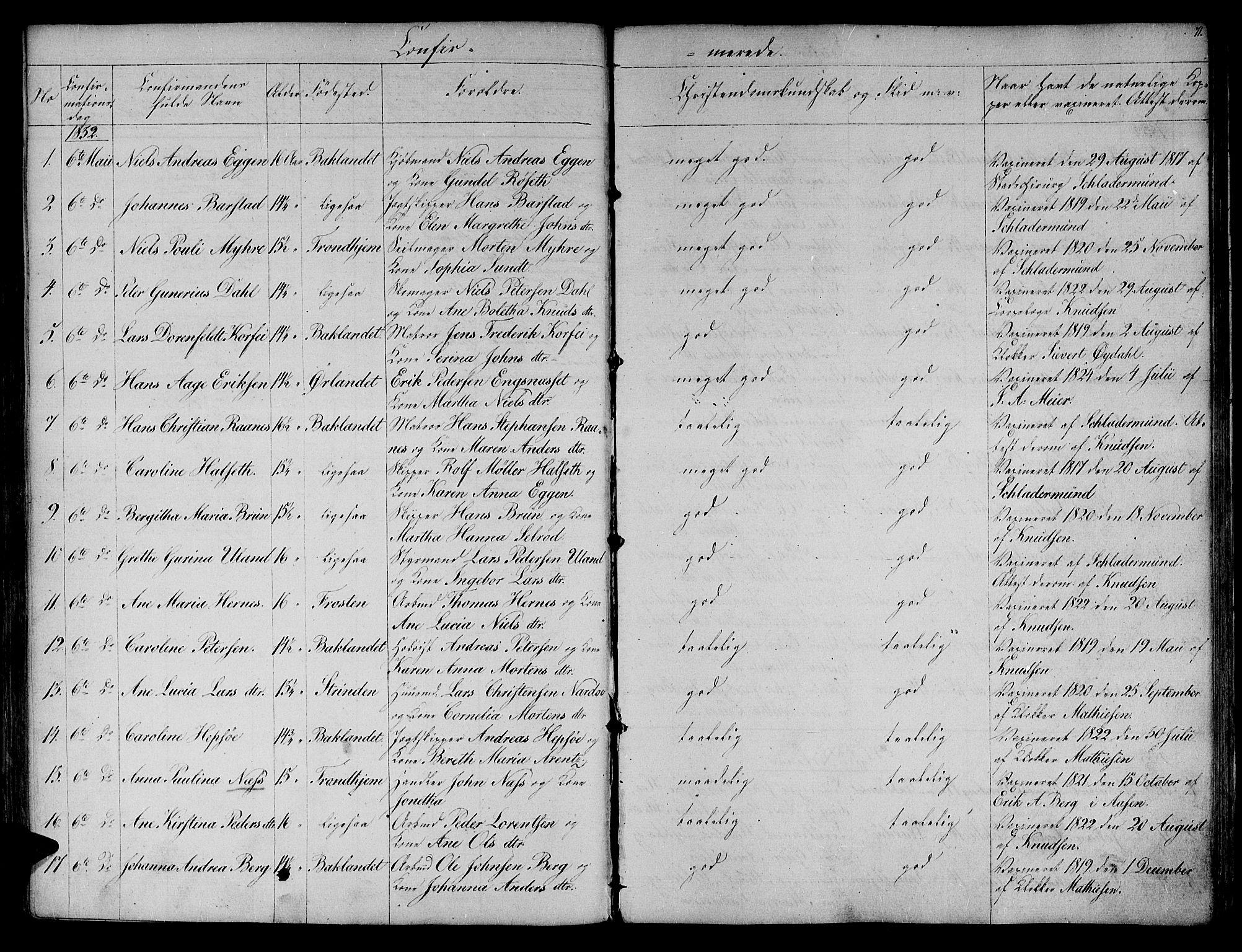 SAT, Ministerialprotokoller, klokkerbøker og fødselsregistre - Sør-Trøndelag, 604/L0182: Ministerialbok nr. 604A03, 1818-1850, s. 71