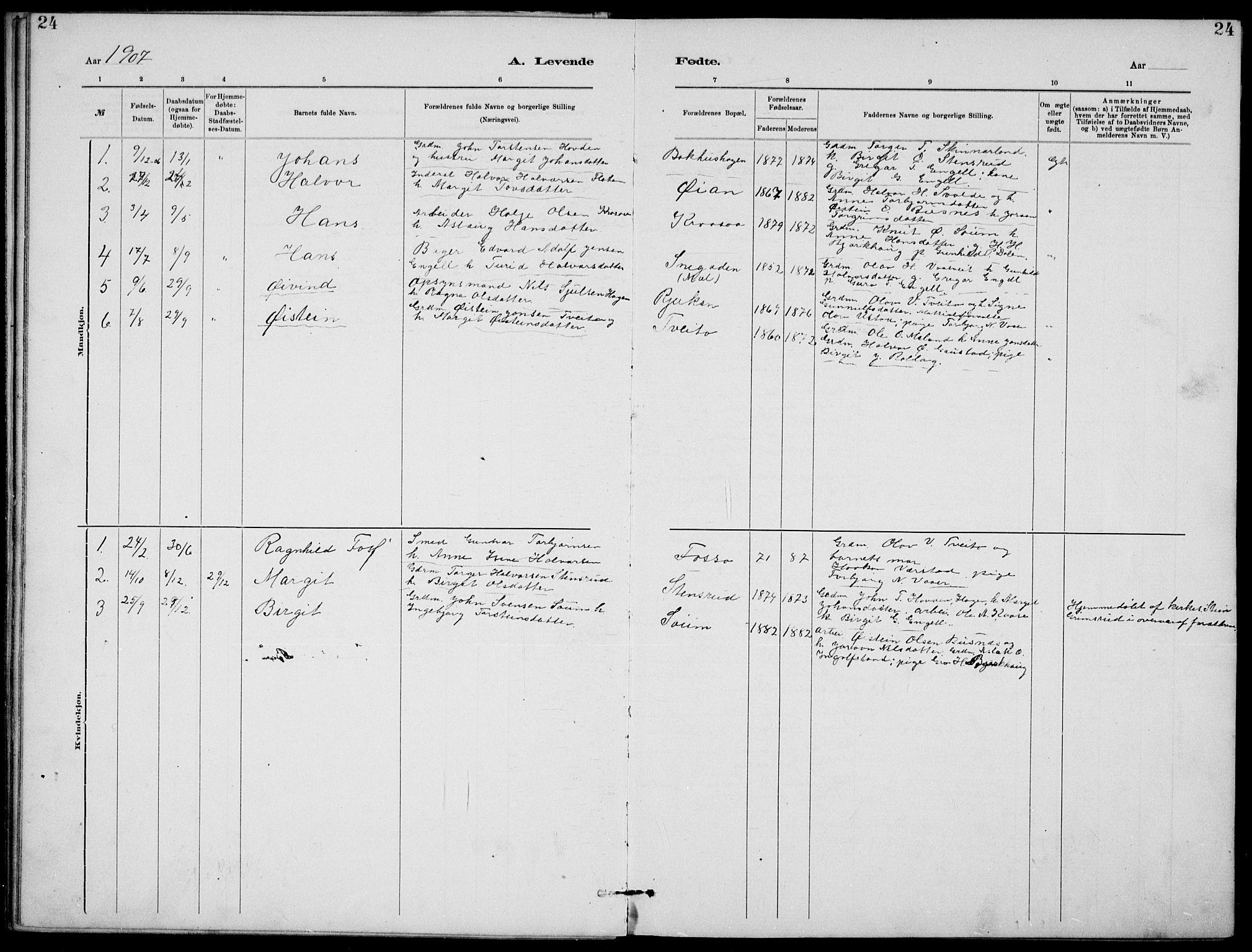 SAKO, Rjukan kirkebøker, G/Ga/L0001: Klokkerbok nr. 1, 1880-1914, s. 24