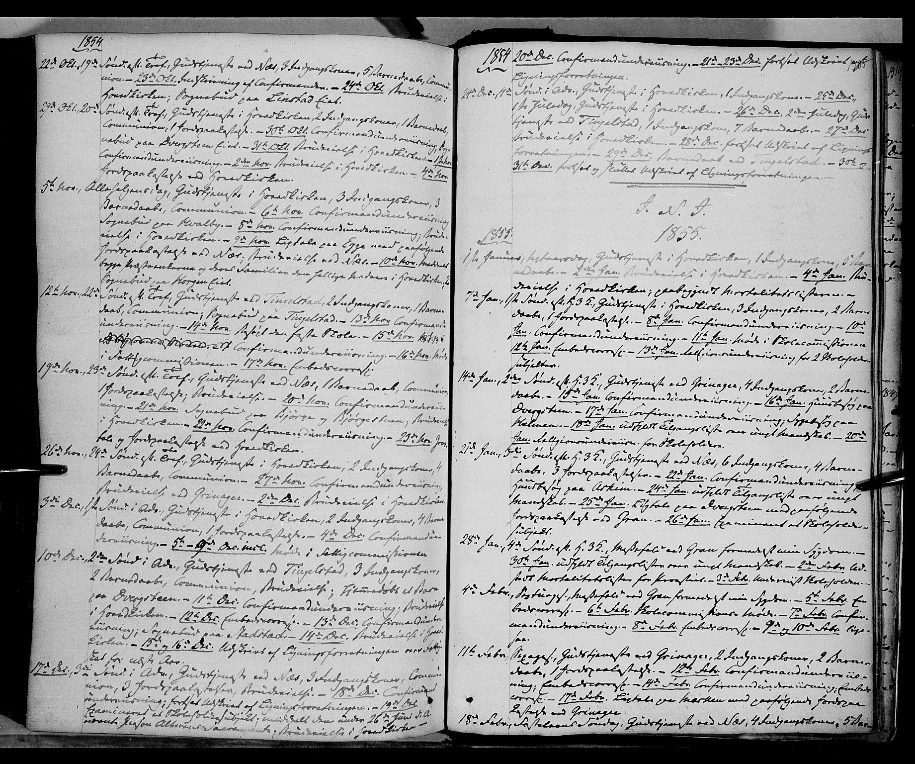 SAH, Gran prestekontor, Ministerialbok nr. 11, 1842-1856, s. 1384-1385