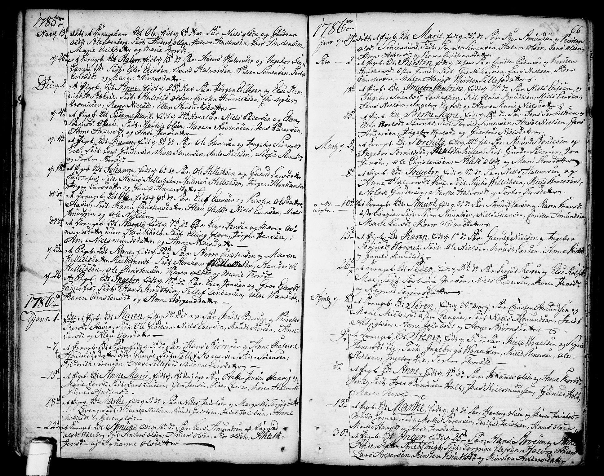 SAKO, Sannidal kirkebøker, F/Fa/L0002: Ministerialbok nr. 2, 1767-1802, s. 66