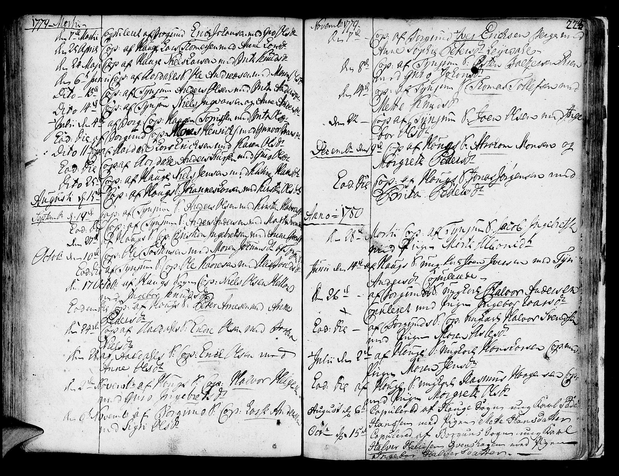 SAB, Lærdal sokneprestembete, Ministerialbok nr. A 2, 1752-1782, s. 223