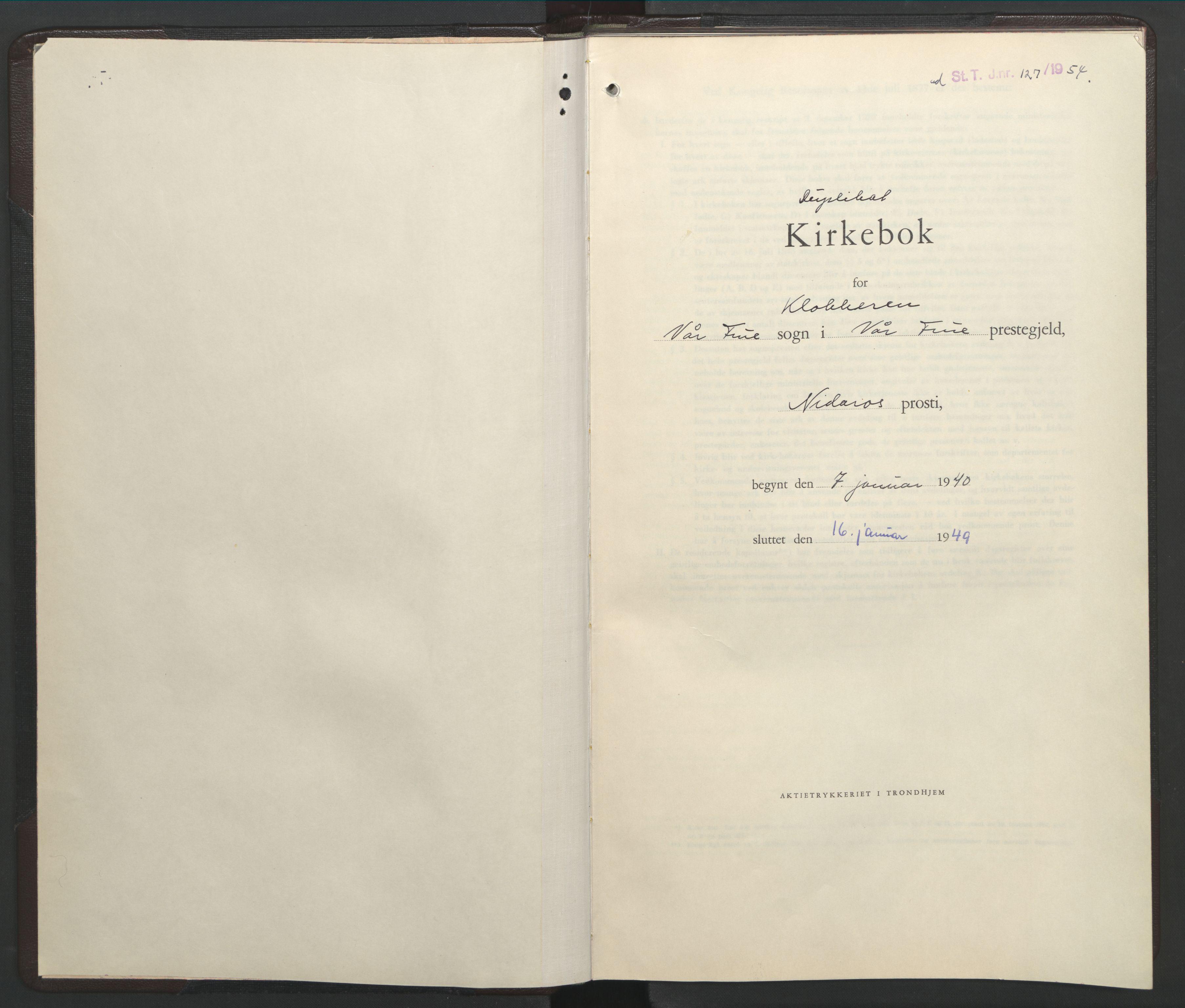 SAT, Ministerialprotokoller, klokkerbøker og fødselsregistre - Sør-Trøndelag, 602/L0153: Klokkerbok nr. 602C21, 1940-1949