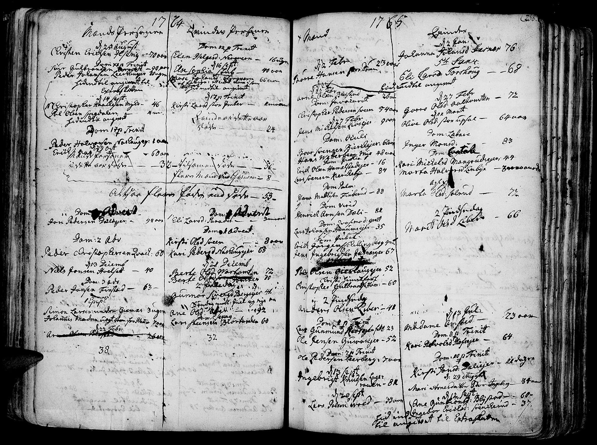 SAH, Vang prestekontor, Hedmark, H/Ha/Haa/L0003: Ministerialbok nr. 3, 1734-1809, s. 258