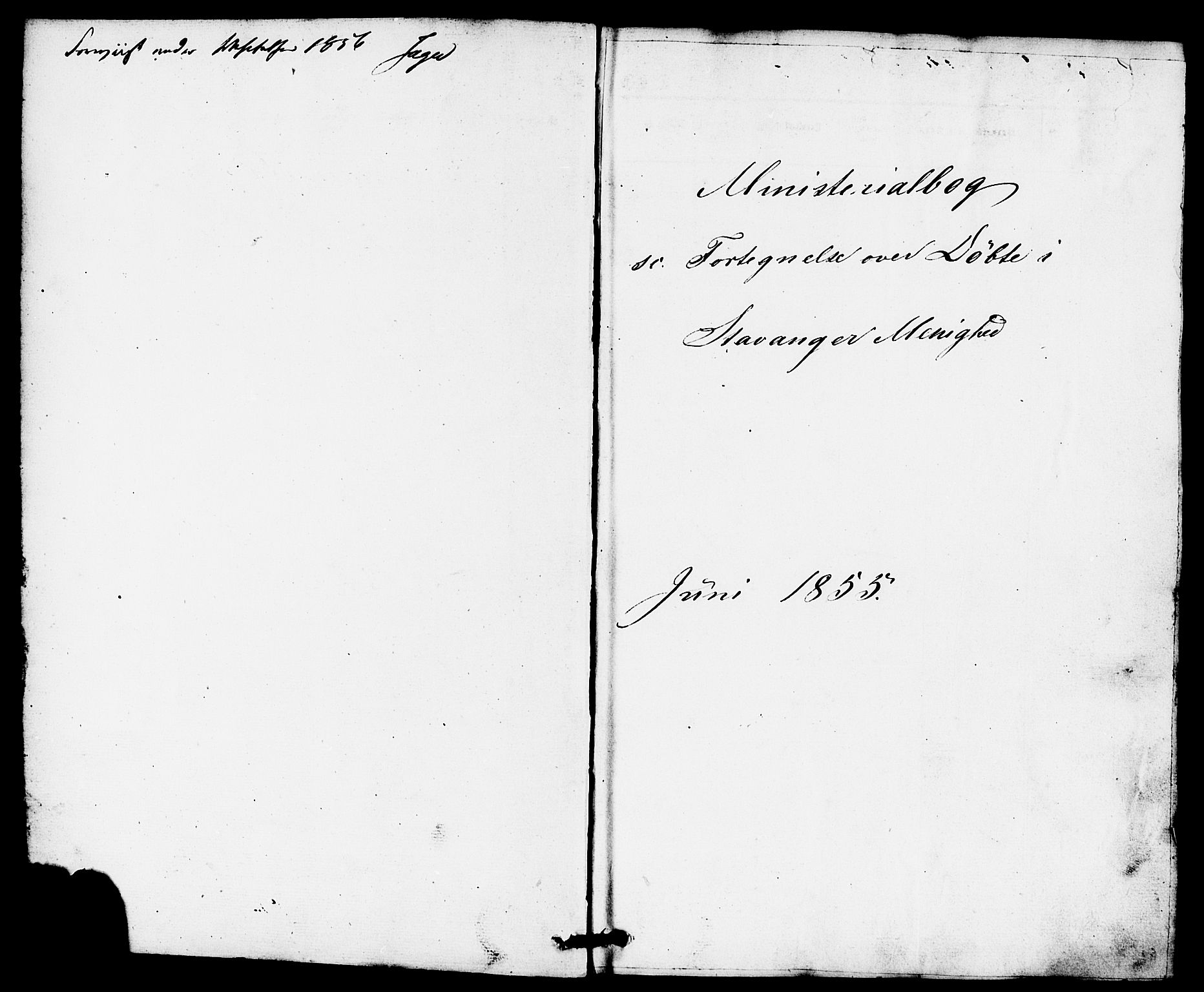 SAST, Domkirken sokneprestkontor, 30/30BB/L0010: Klokkerbok nr. B 10, 1855-1860
