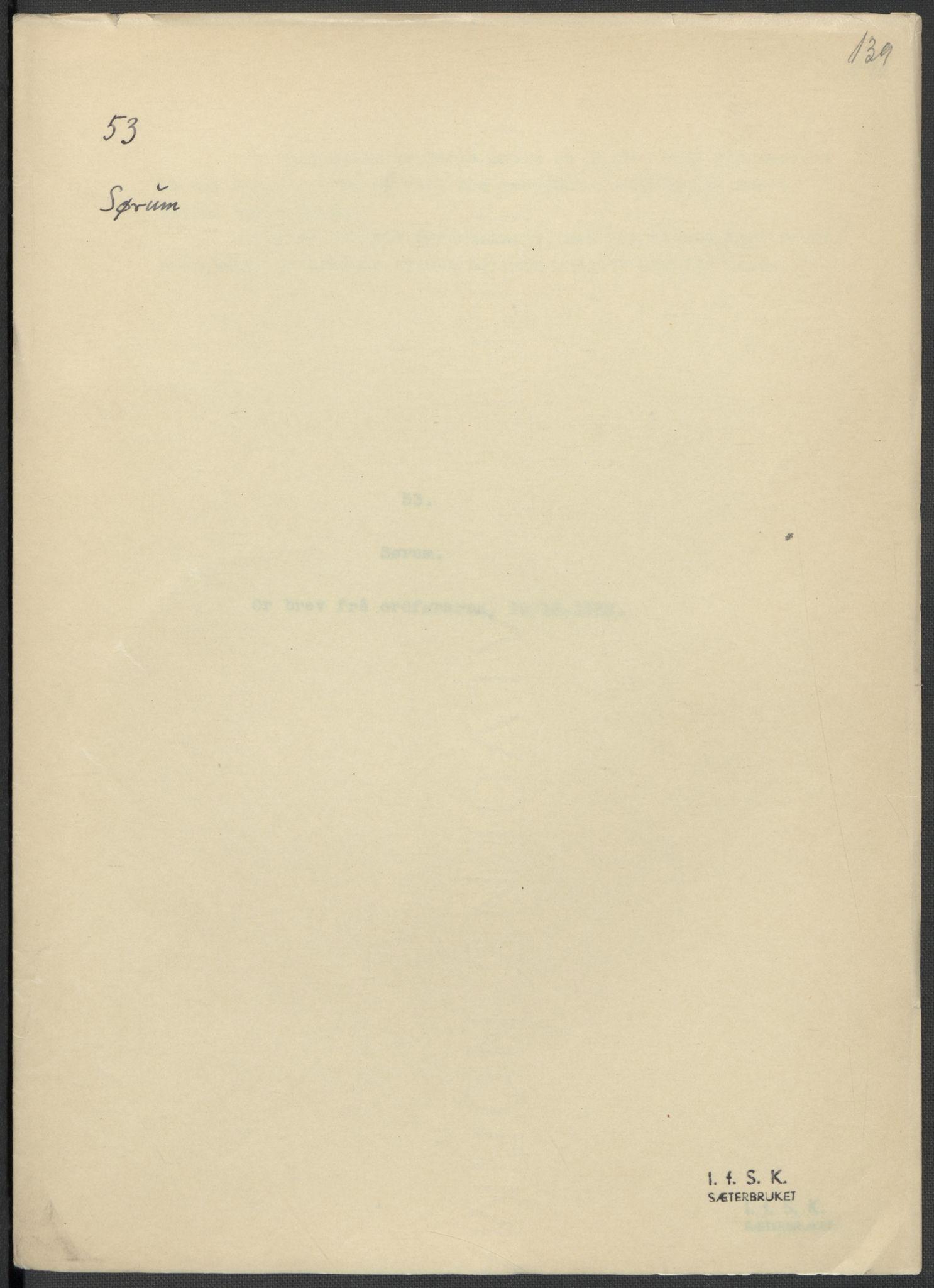 RA, Instituttet for sammenlignende kulturforskning, F/Fc/L0002: Eske B2:, 1932-1936, s. 139