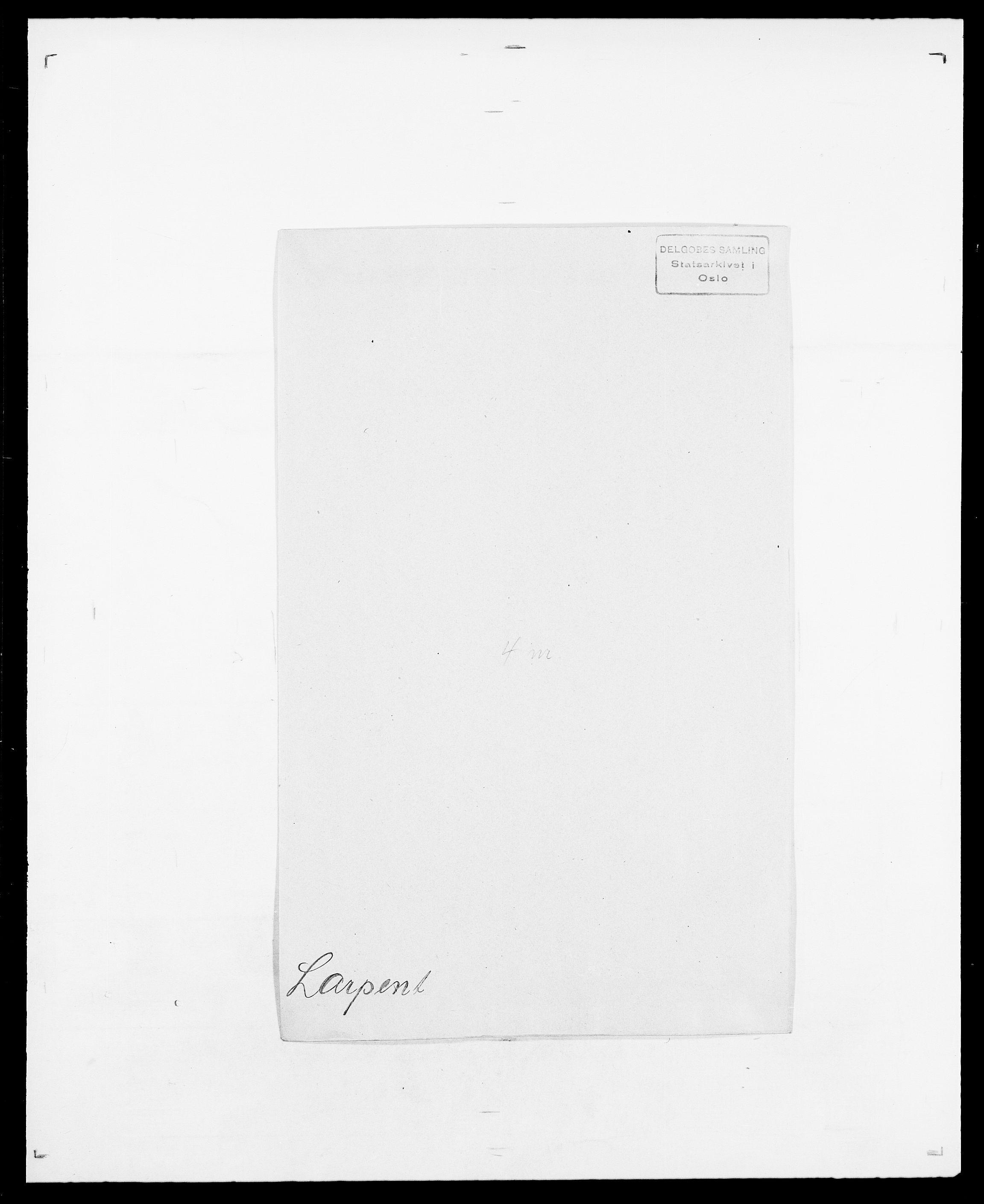 SAO, Delgobe, Charles Antoine - samling, D/Da/L0022: Krog - Lasteen, s. 720