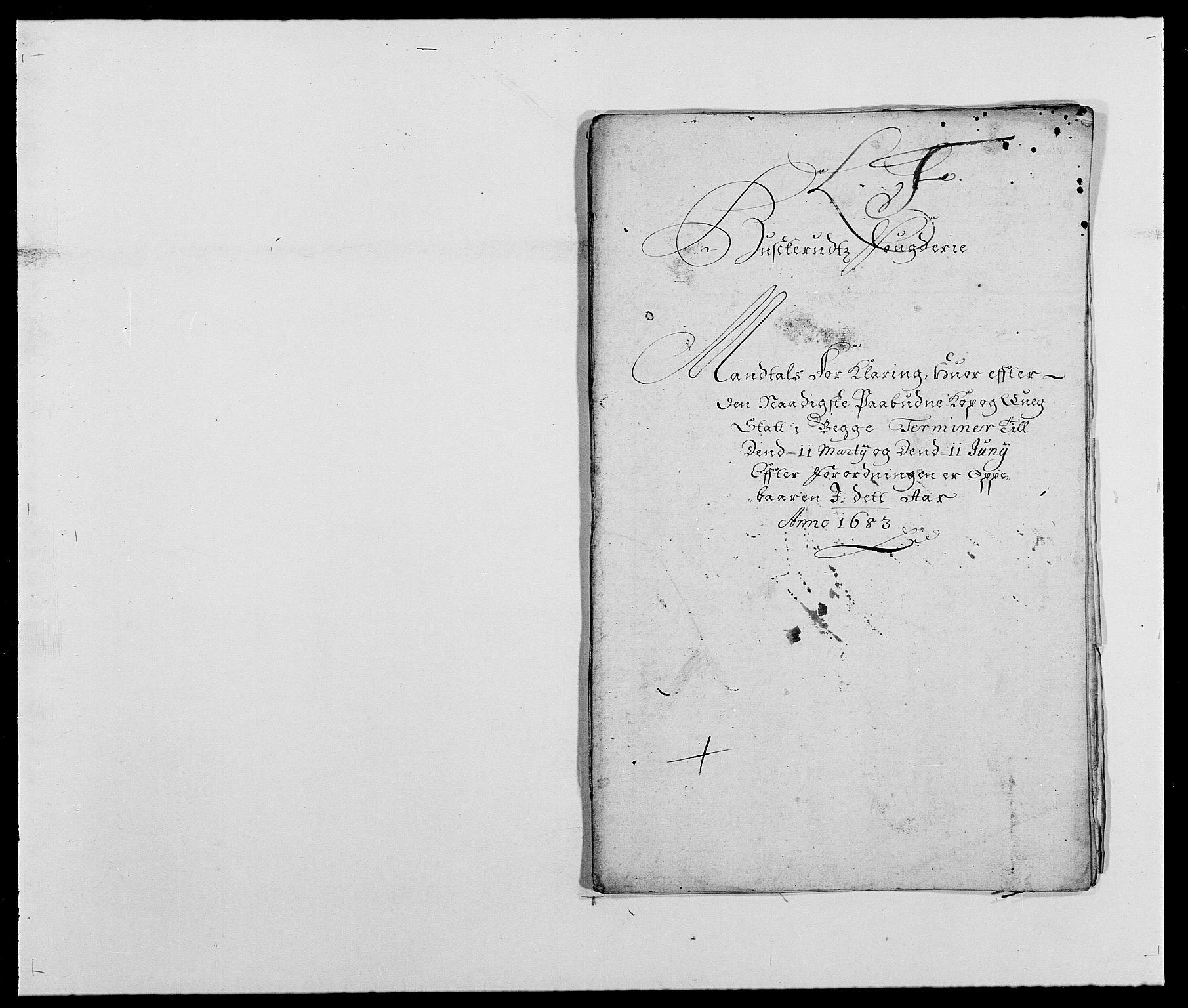 RA, Rentekammeret inntil 1814, Reviderte regnskaper, Fogderegnskap, R25/L1677: Fogderegnskap Buskerud, 1683-1684, s. 123