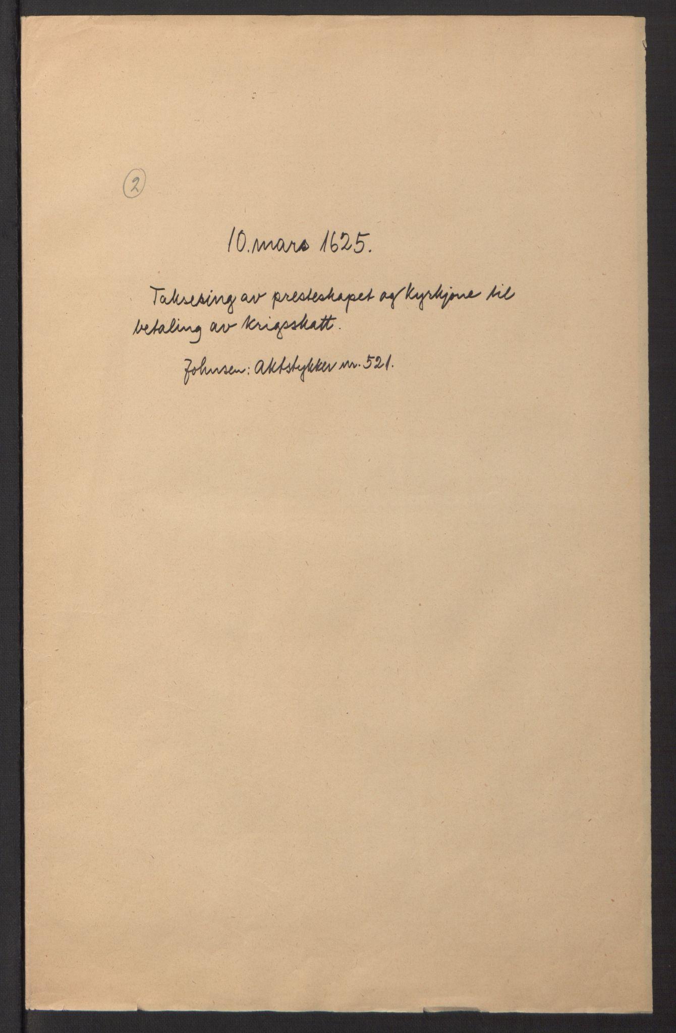 RA, Stattholderembetet 1572-1771, Ek/L0016: Jordebøker til utlikning av rosstjeneste 1624-1626:, 1625, s. 6