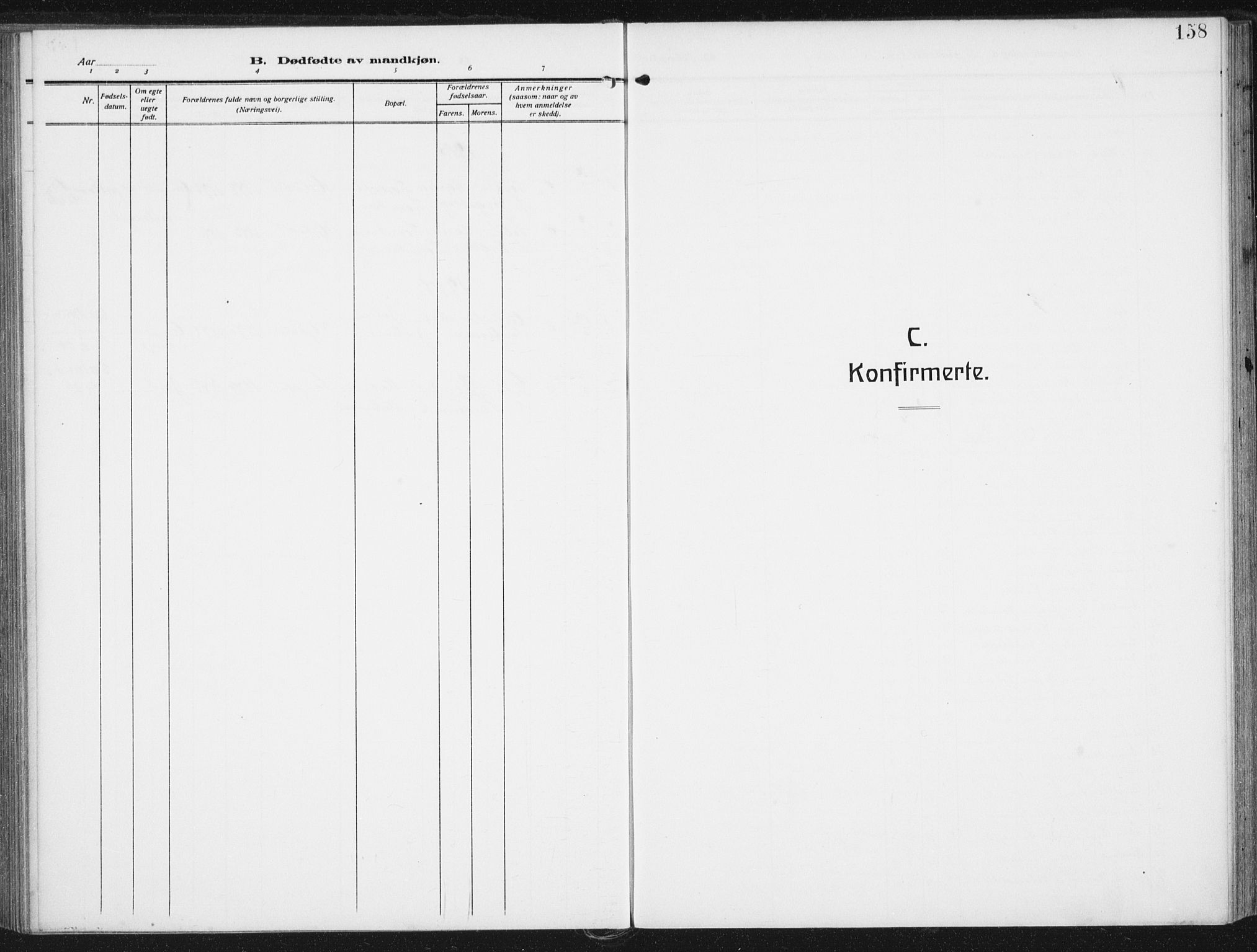 SAT, Ministerialprotokoller, klokkerbøker og fødselsregistre - Nordland, 880/L1135: Ministerialbok nr. 880A09, 1908-1919, s. 158