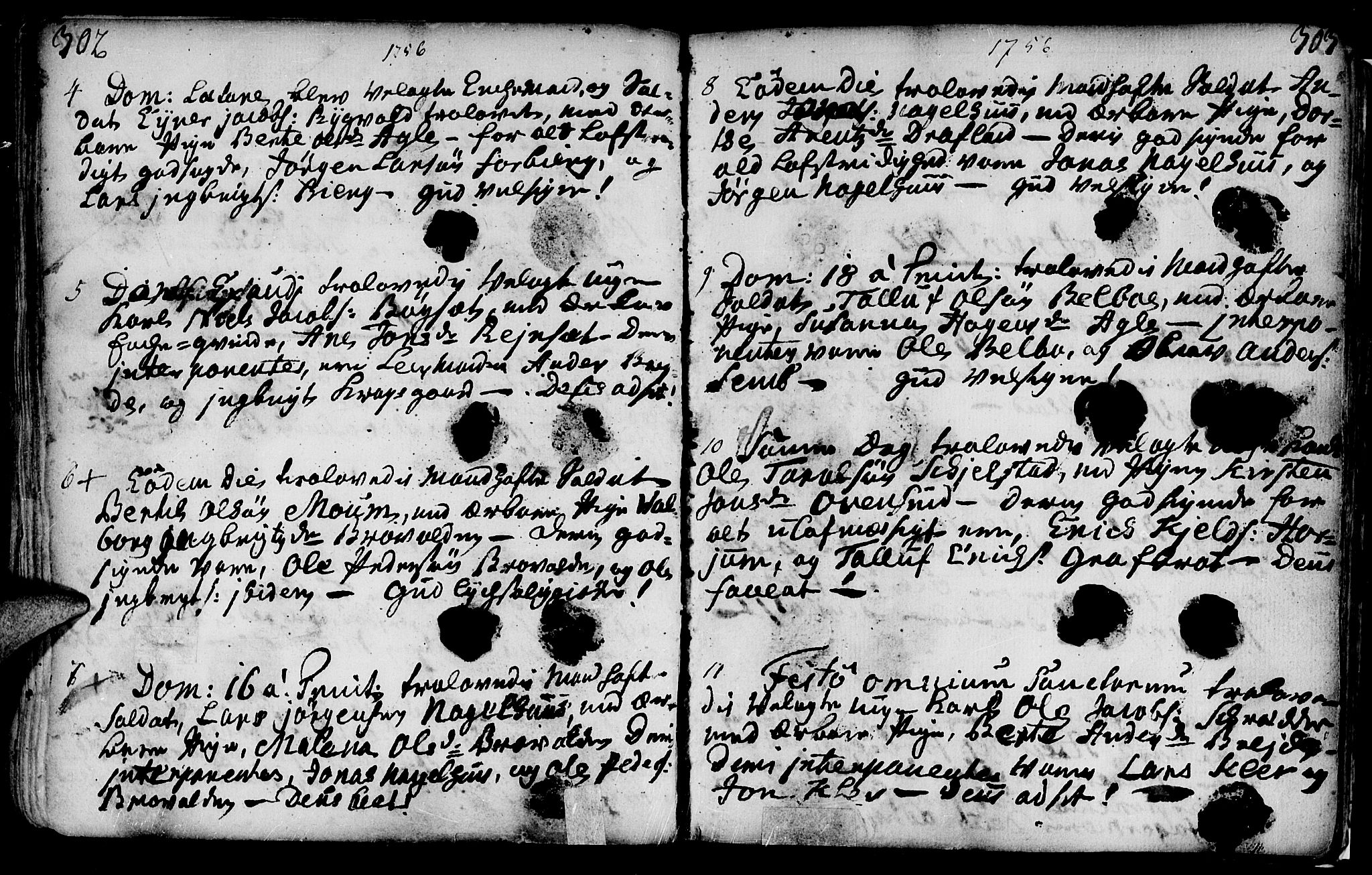 SAT, Ministerialprotokoller, klokkerbøker og fødselsregistre - Nord-Trøndelag, 749/L0467: Ministerialbok nr. 749A01, 1733-1787, s. 302-303
