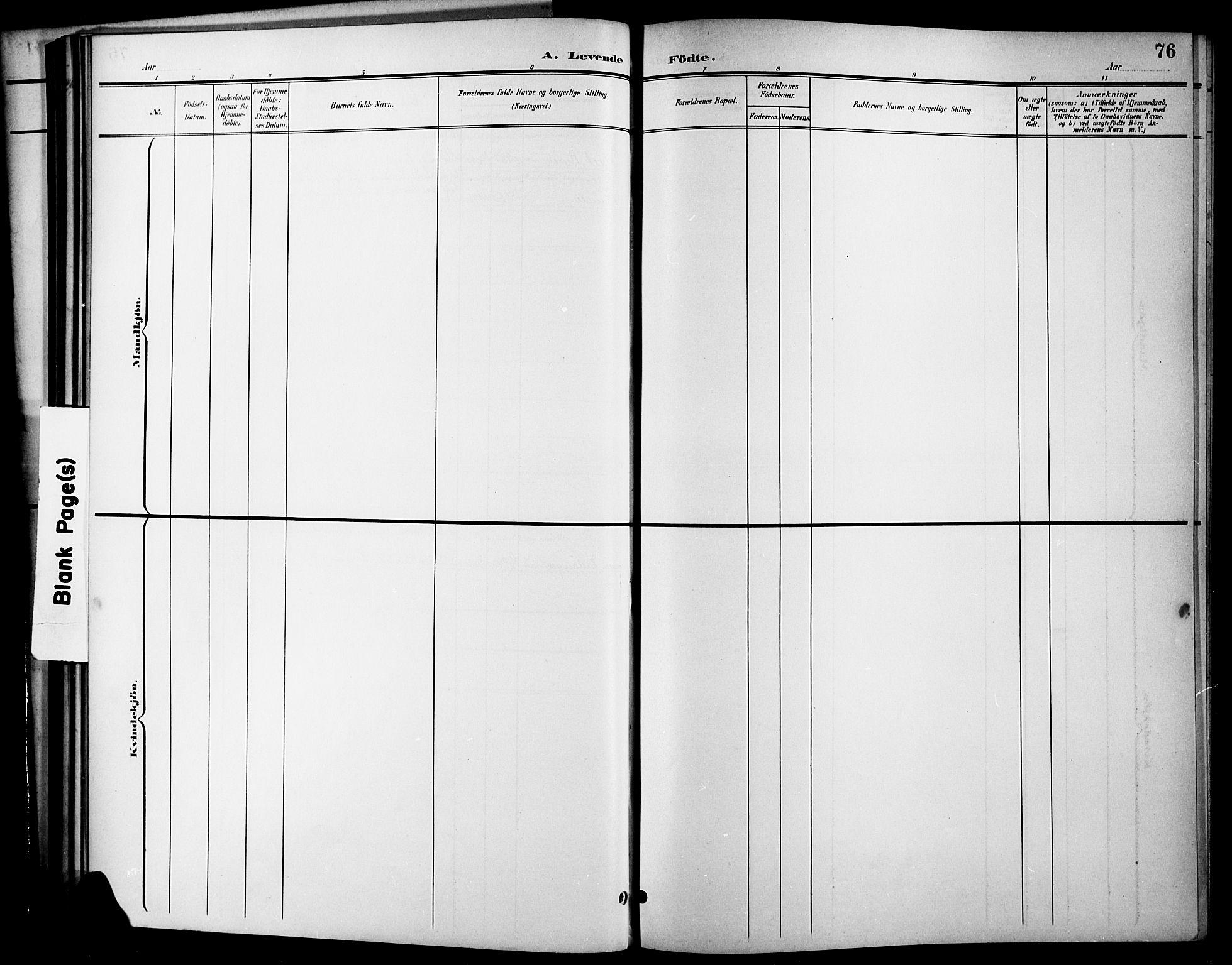 SAKO, Brevik kirkebøker, G/Ga/L0005: Klokkerbok nr. 5, 1901-1924, s. 76