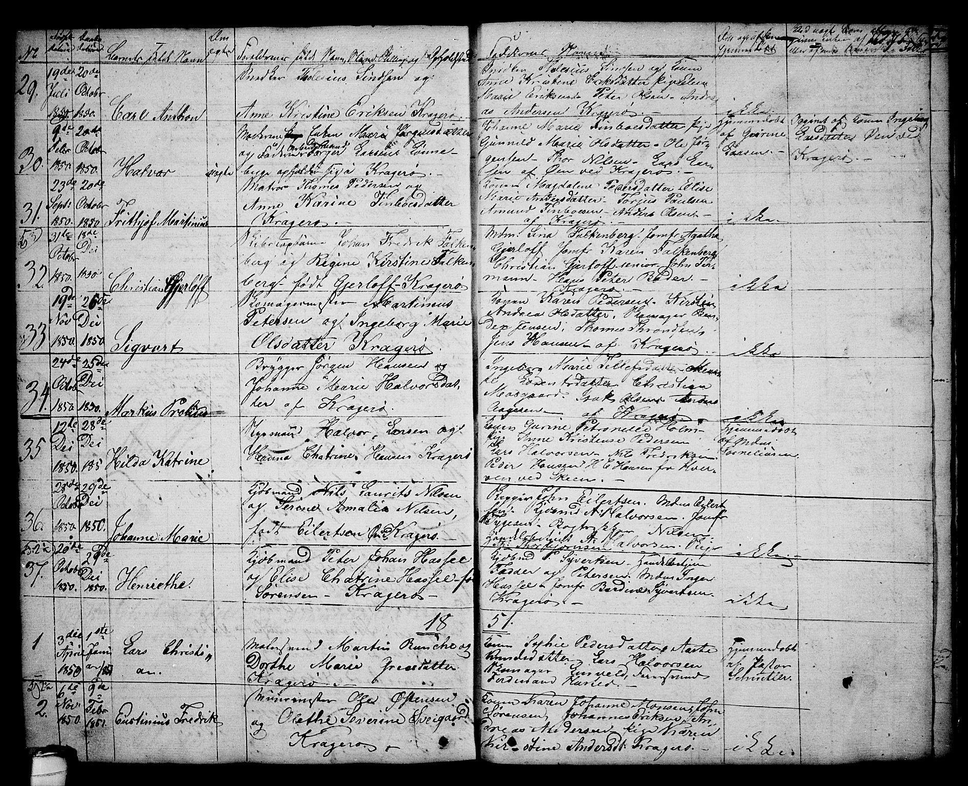 SAKO, Kragerø kirkebøker, G/Ga/L0003: Klokkerbok nr. 3, 1832-1852, s. 271