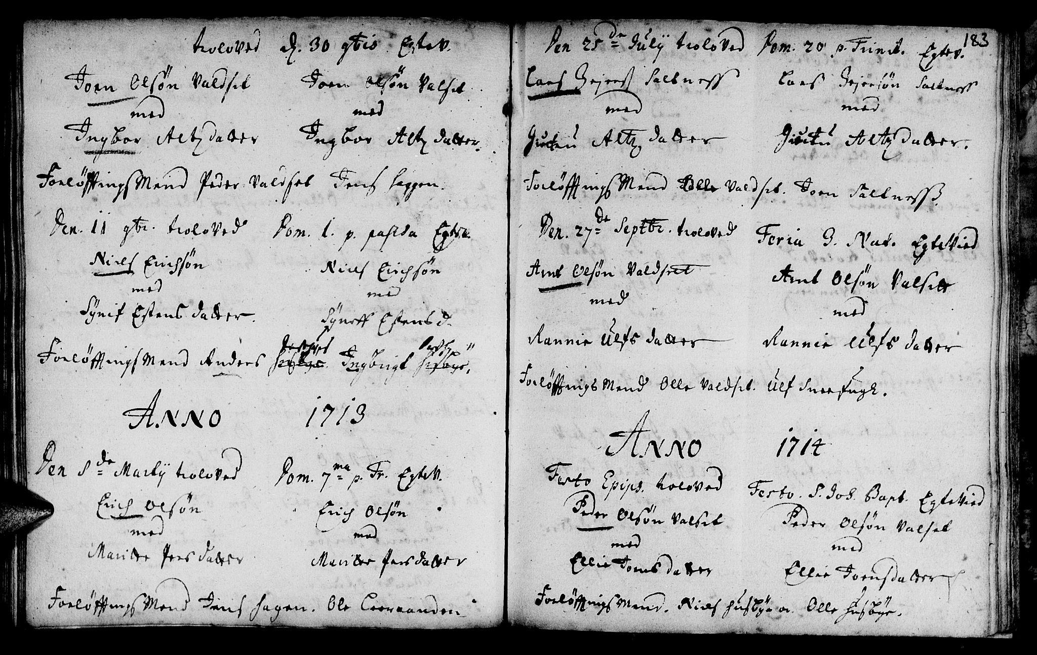 SAT, Ministerialprotokoller, klokkerbøker og fødselsregistre - Sør-Trøndelag, 666/L0783: Ministerialbok nr. 666A01, 1702-1753, s. 183