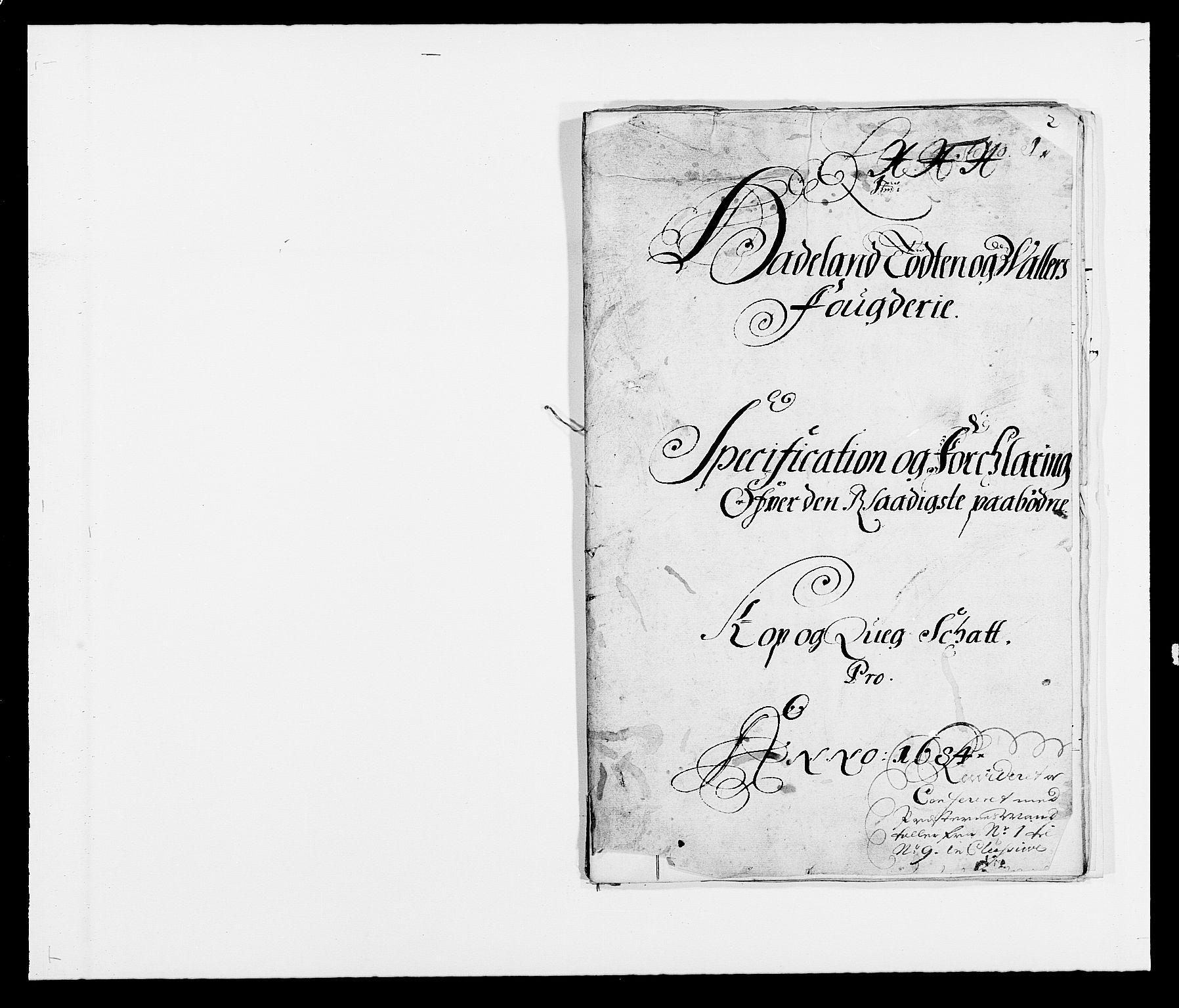 RA, Rentekammeret inntil 1814, Reviderte regnskaper, Fogderegnskap, R18/L1283: Fogderegnskap Hadeland, Toten og Valdres, 1684, s. 254