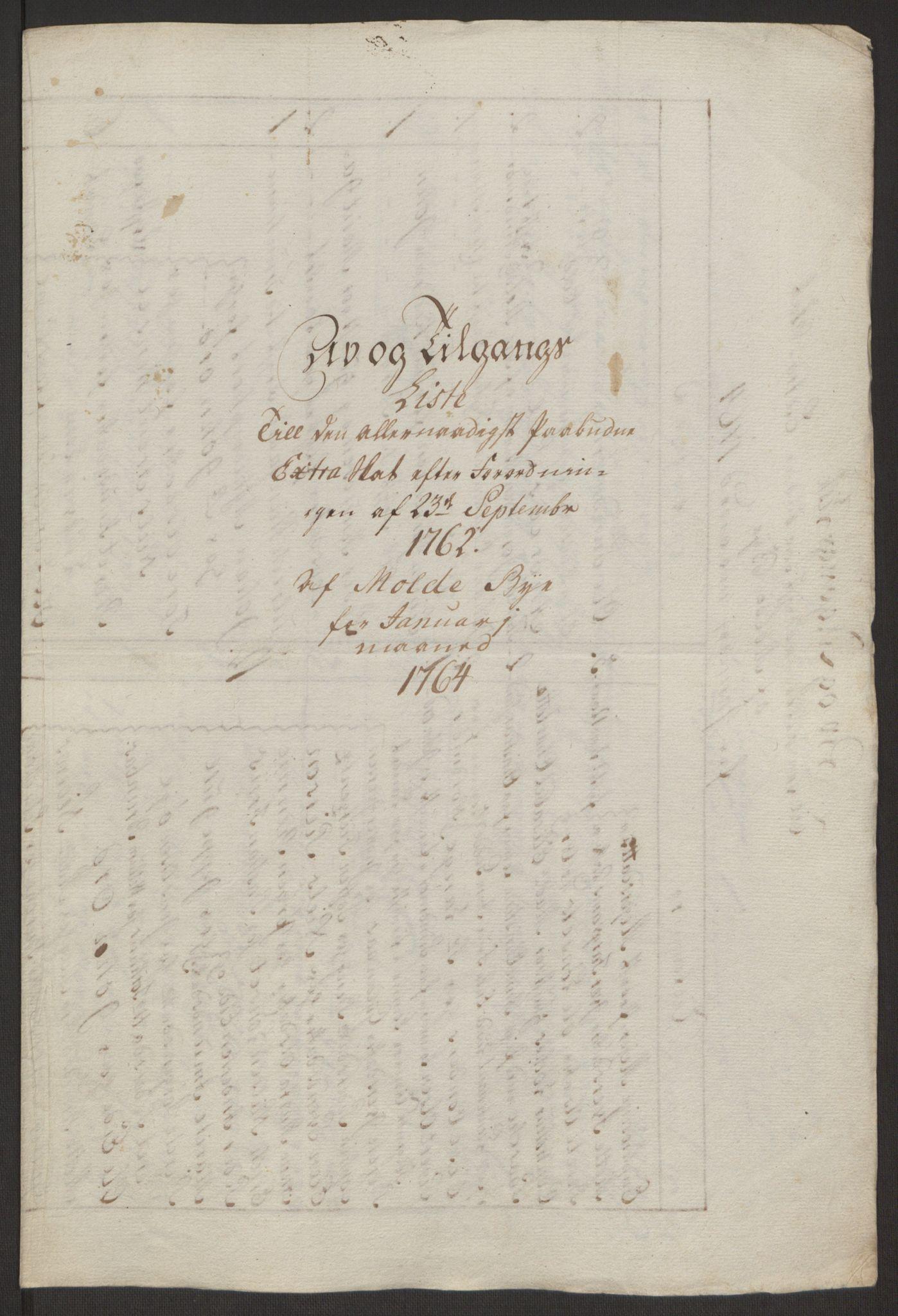RA, Rentekammeret inntil 1814, Reviderte regnskaper, Byregnskaper, R/Rq/L0487: [Q1] Kontribusjonsregnskap, 1762-1772, s. 72