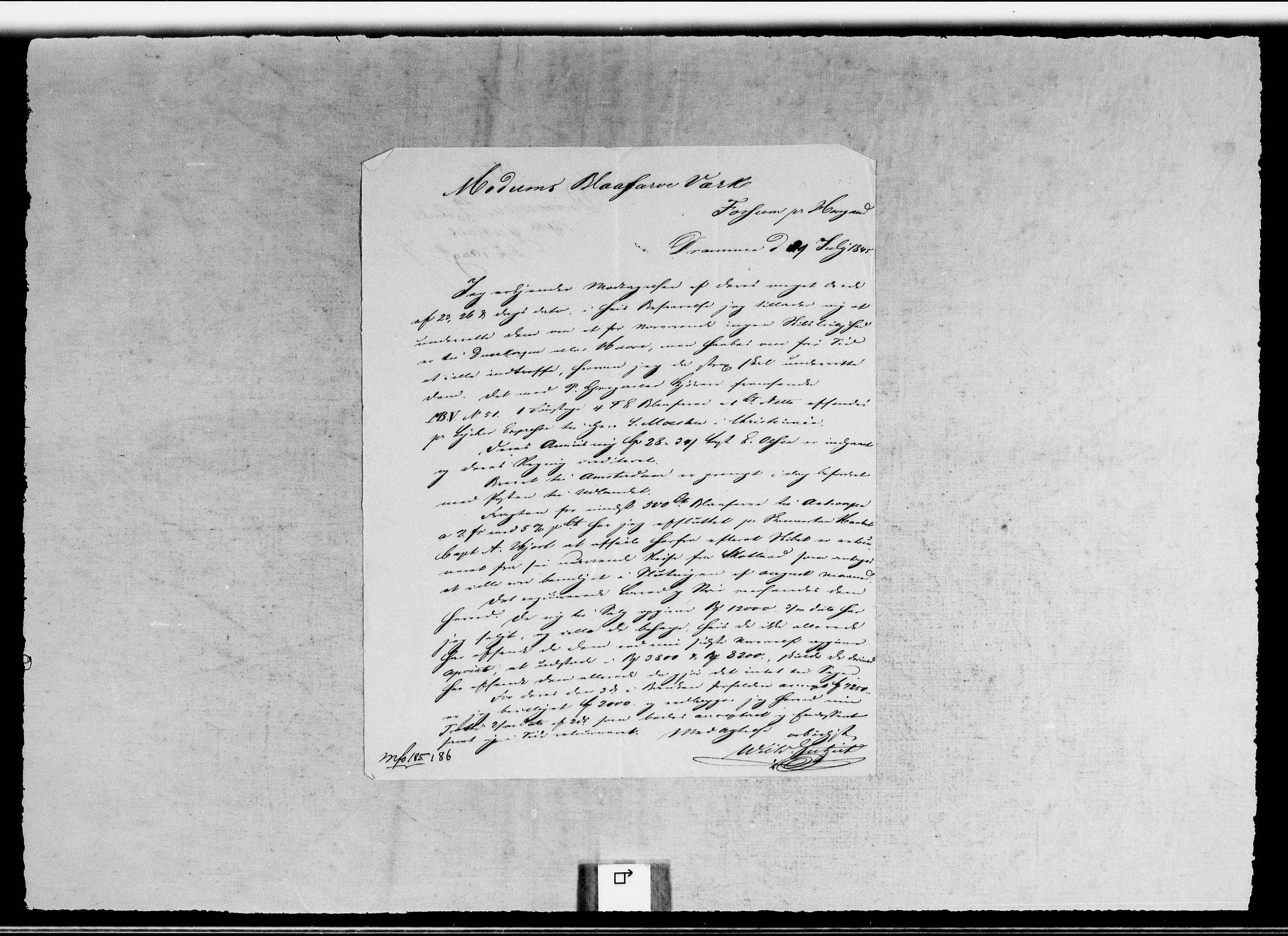 RA, Modums Blaafarveværk, G/Gb/L0130, 1845-1846, s. 2