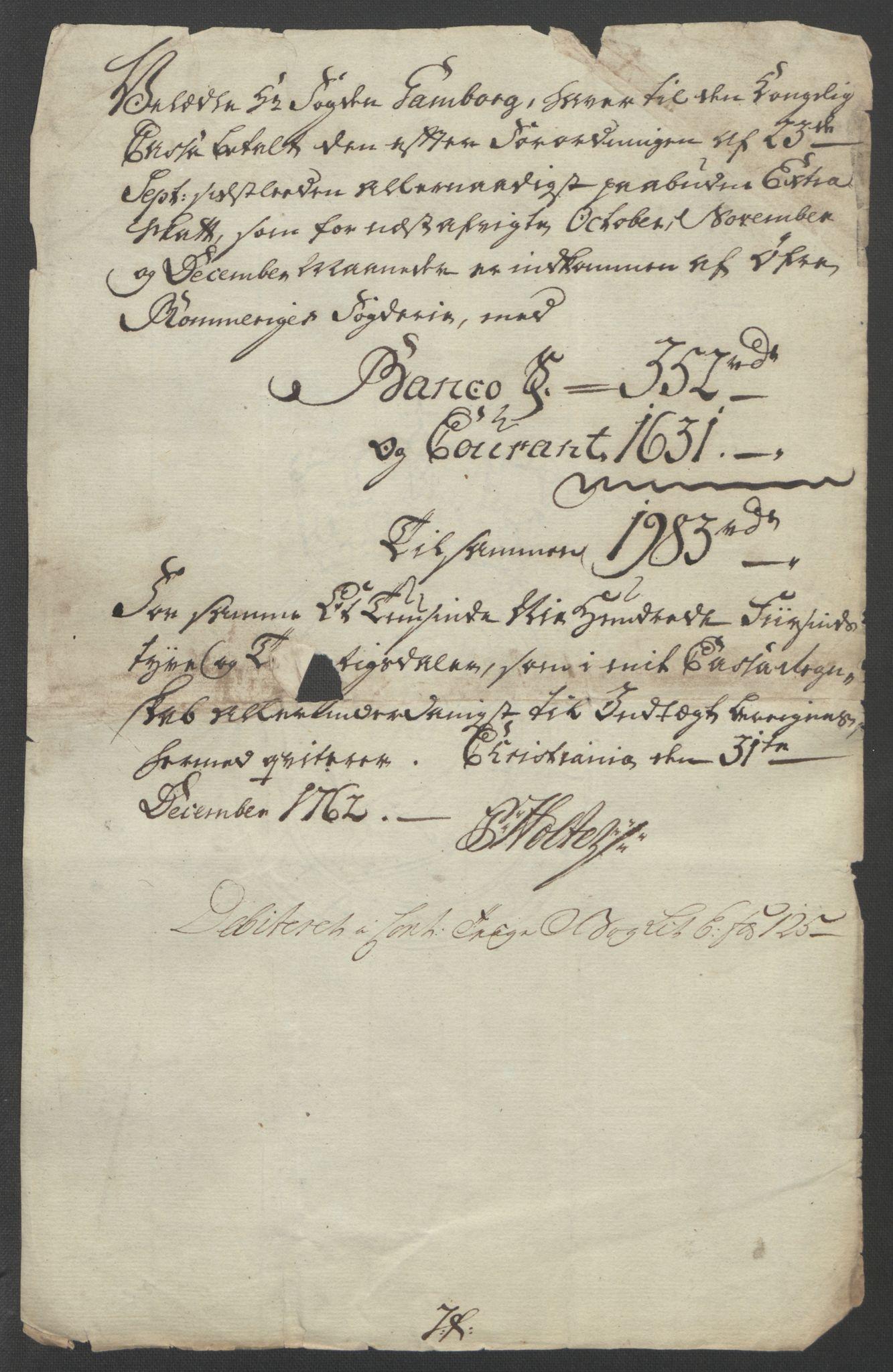 RA, Rentekammeret inntil 1814, Reviderte regnskaper, Fogderegnskap, R12/L0802: Ekstraskatten Øvre Romerike, 1762, s. 532
