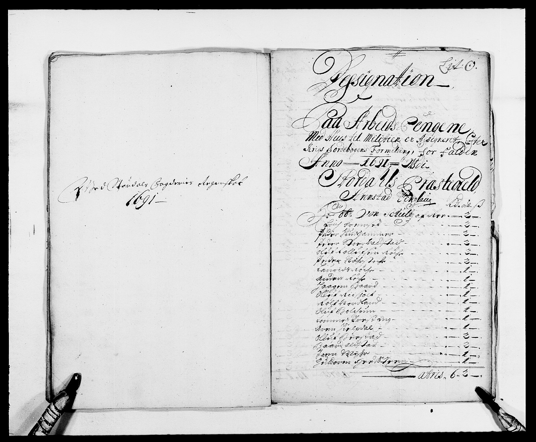 RA, Rentekammeret inntil 1814, Reviderte regnskaper, Fogderegnskap, R62/L4184: Fogderegnskap Stjørdal og Verdal, 1690-1691, s. 422