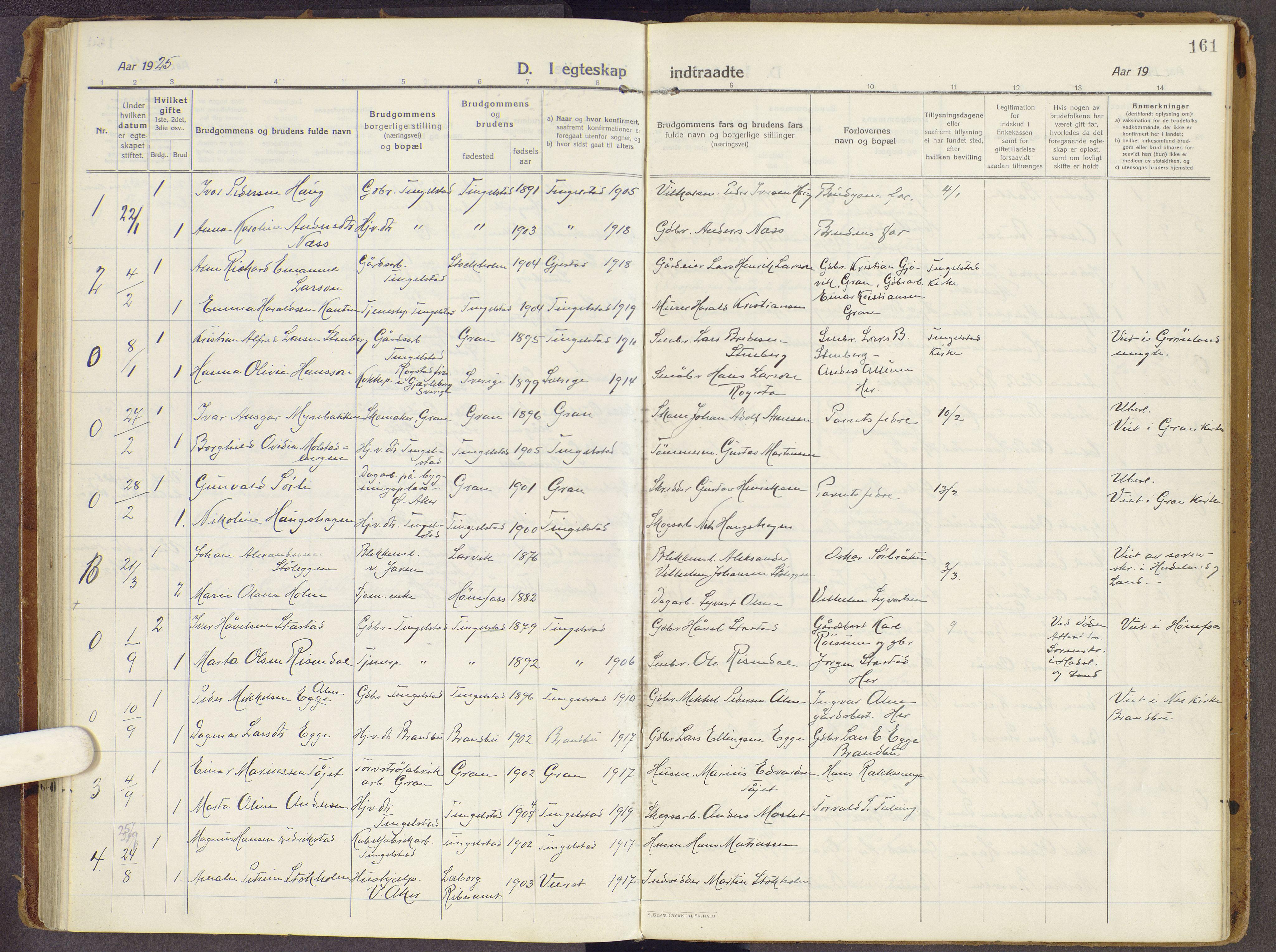 SAH, Brandbu prestekontor, Ministerialbok nr. 3, 1914-1928, s. 161