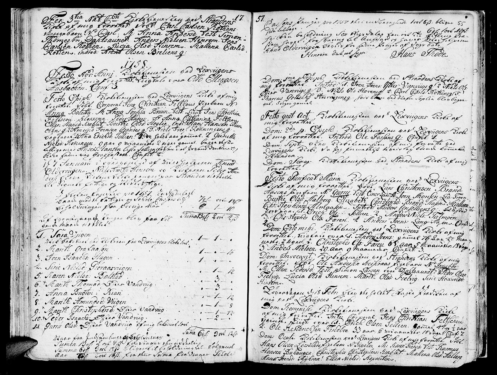 SAT, Ministerialprotokoller, klokkerbøker og fødselsregistre - Nord-Trøndelag, 701/L0003: Ministerialbok nr. 701A03, 1751-1783, s. 55