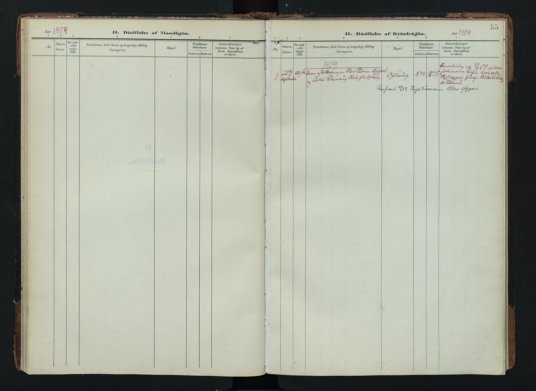 SAH, Lom prestekontor, K/L0012: Ministerialbok nr. 12, 1904-1928, s. 55