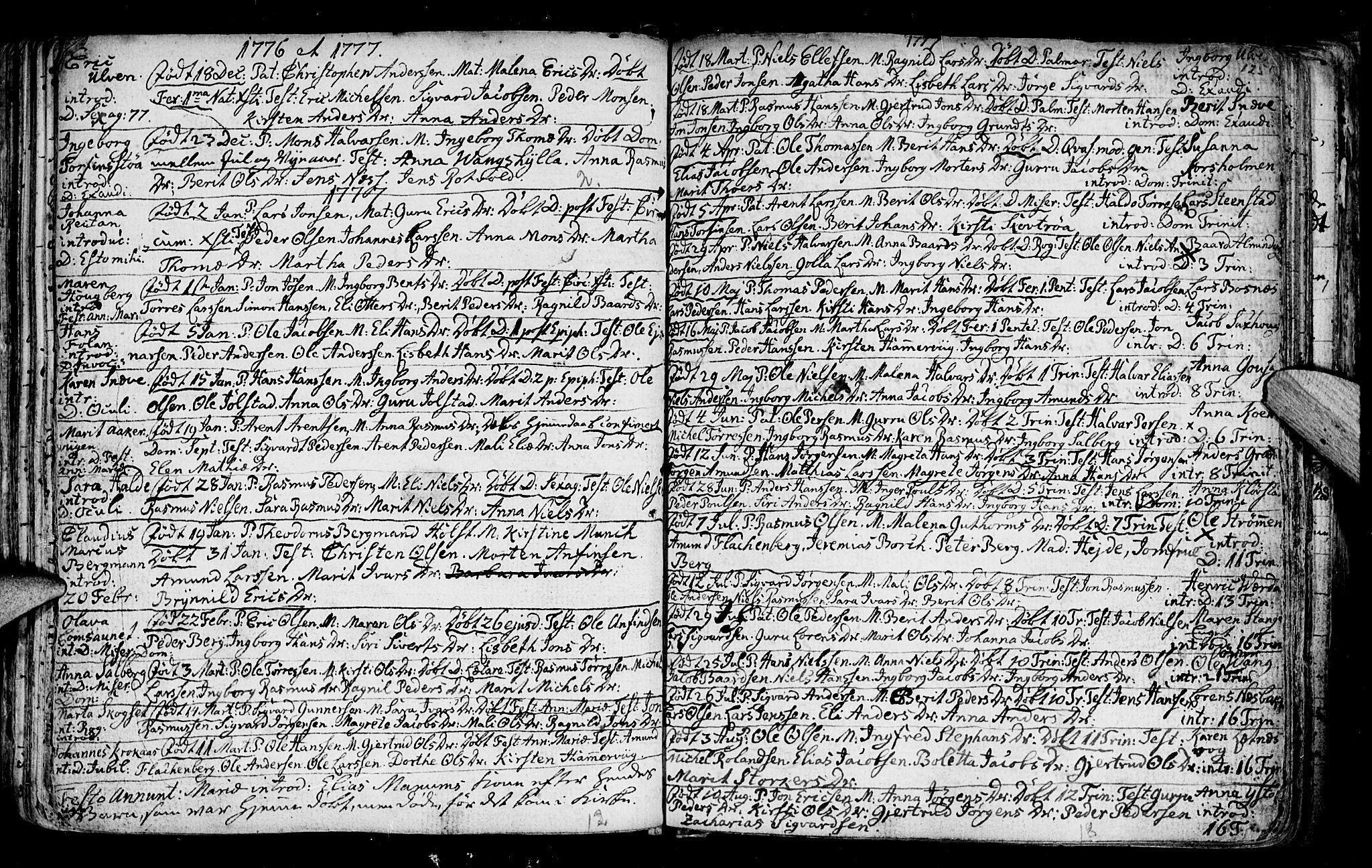 SAT, Ministerialprotokoller, klokkerbøker og fødselsregistre - Nord-Trøndelag, 730/L0273: Ministerialbok nr. 730A02, 1762-1802, s. 125
