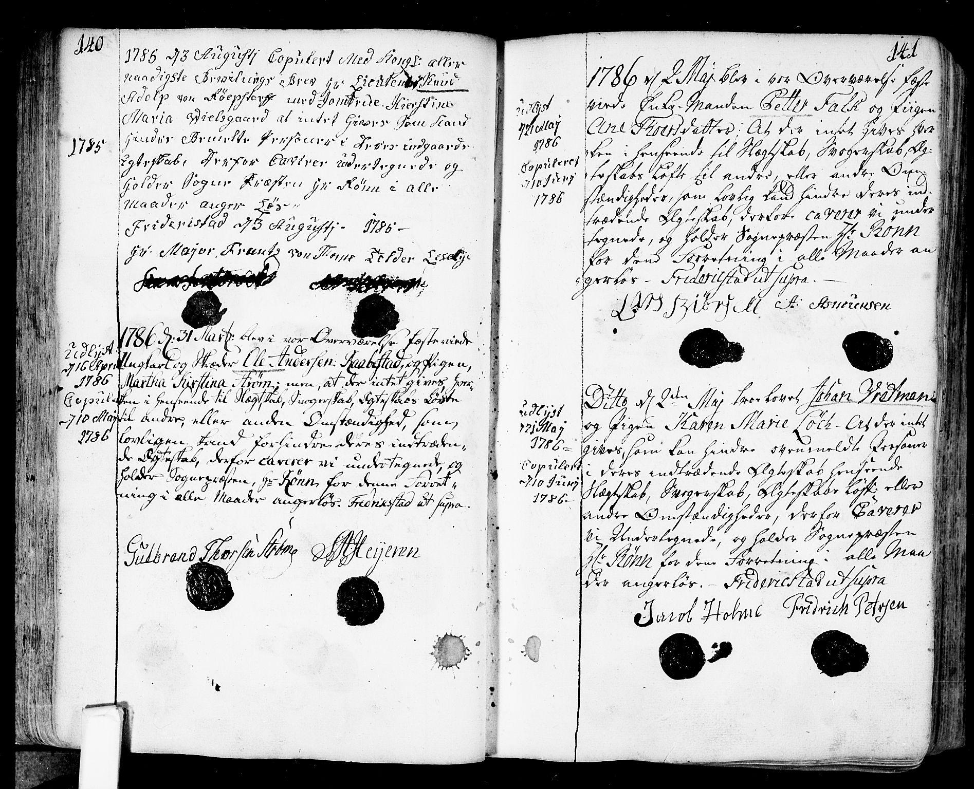 SAO, Fredrikstad prestekontor Kirkebøker, F/Fa/L0002: Ministerialbok nr. 2, 1750-1804, s. 140-141