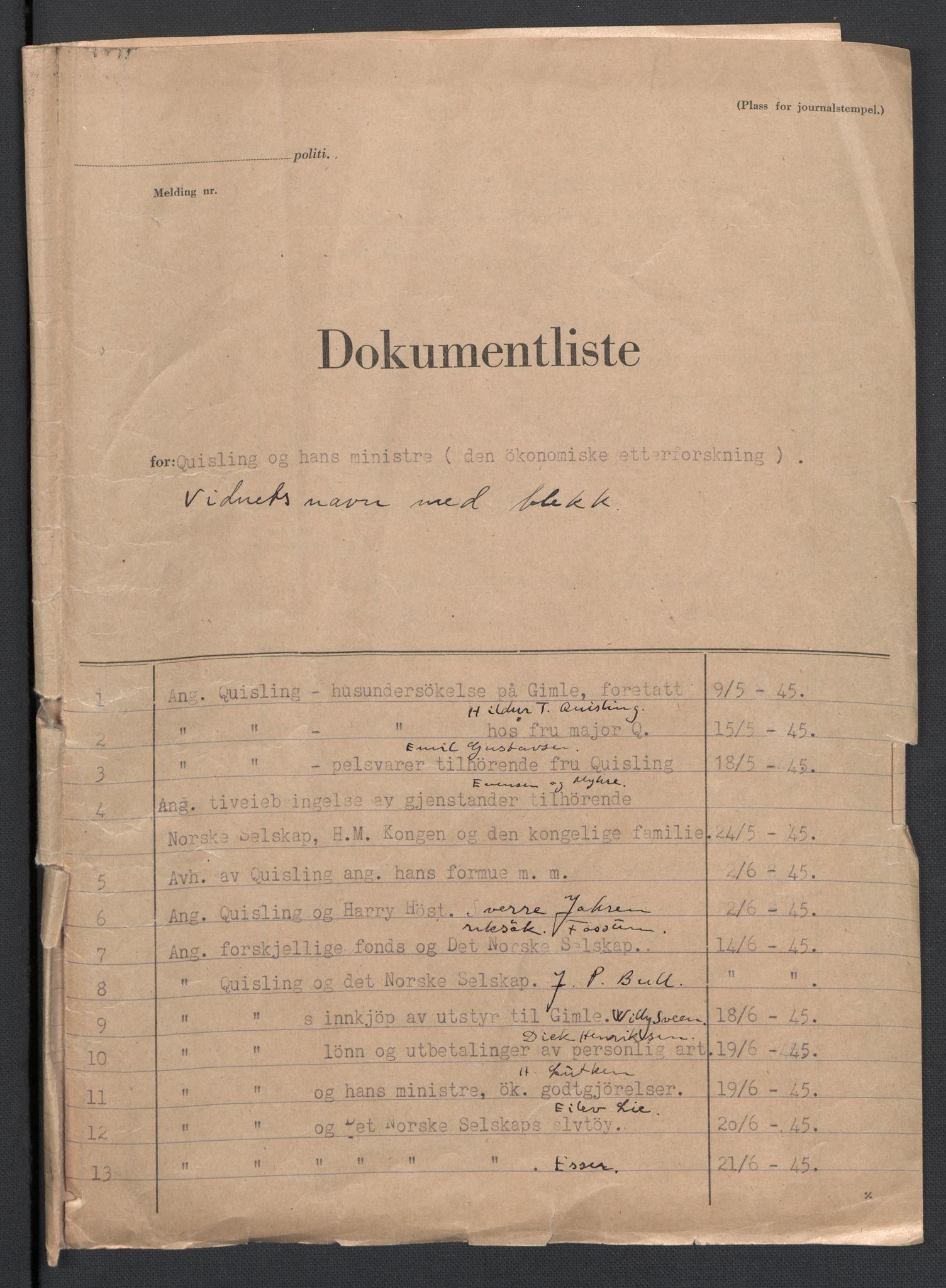 RA, Landssvikarkivet, D/Da/L0006: Dnr. 29, 1945, s. 195