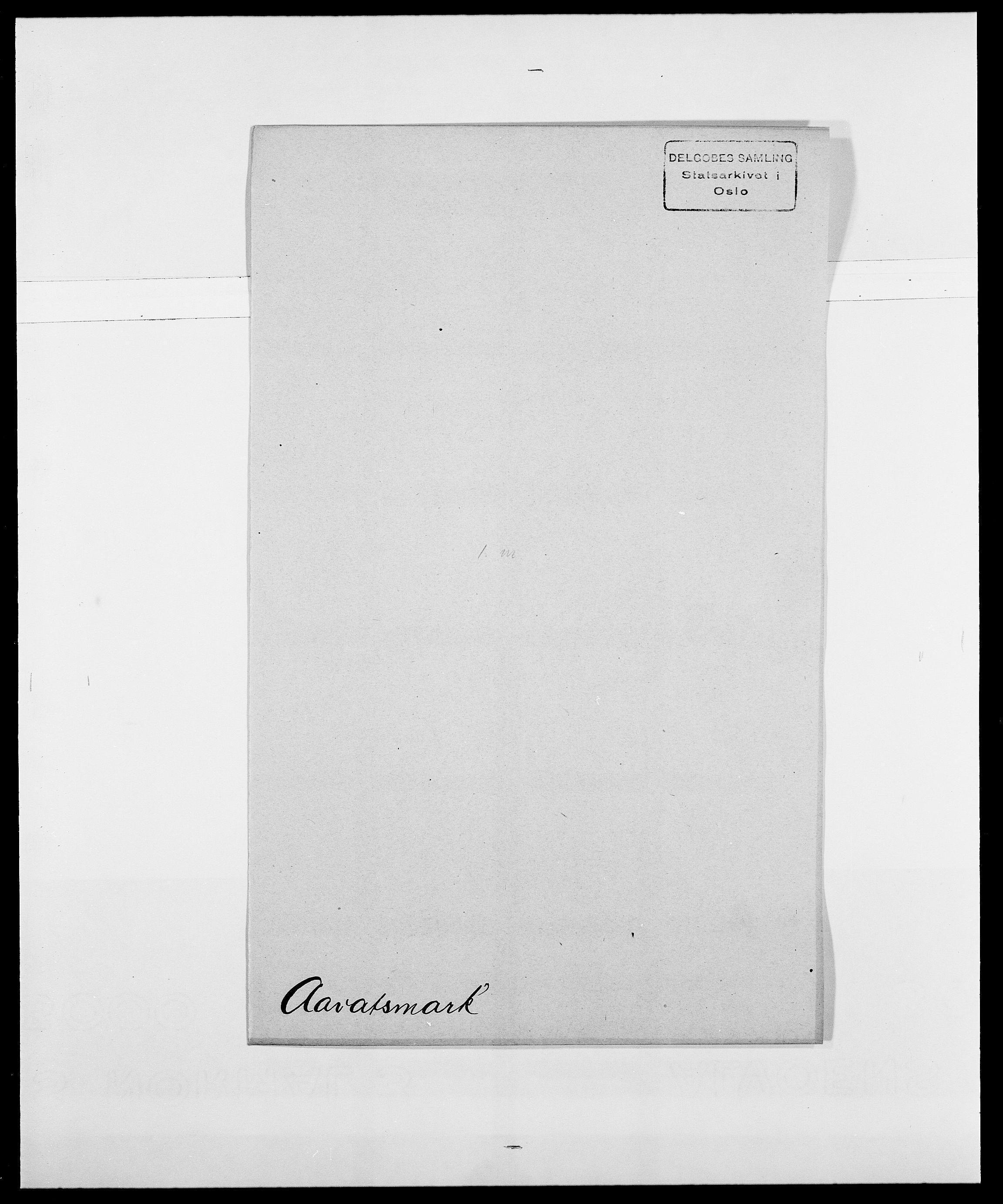 SAO, Delgobe, Charles Antoine - samling, D/Da/L0001: Aabye - Angerman, s. 165