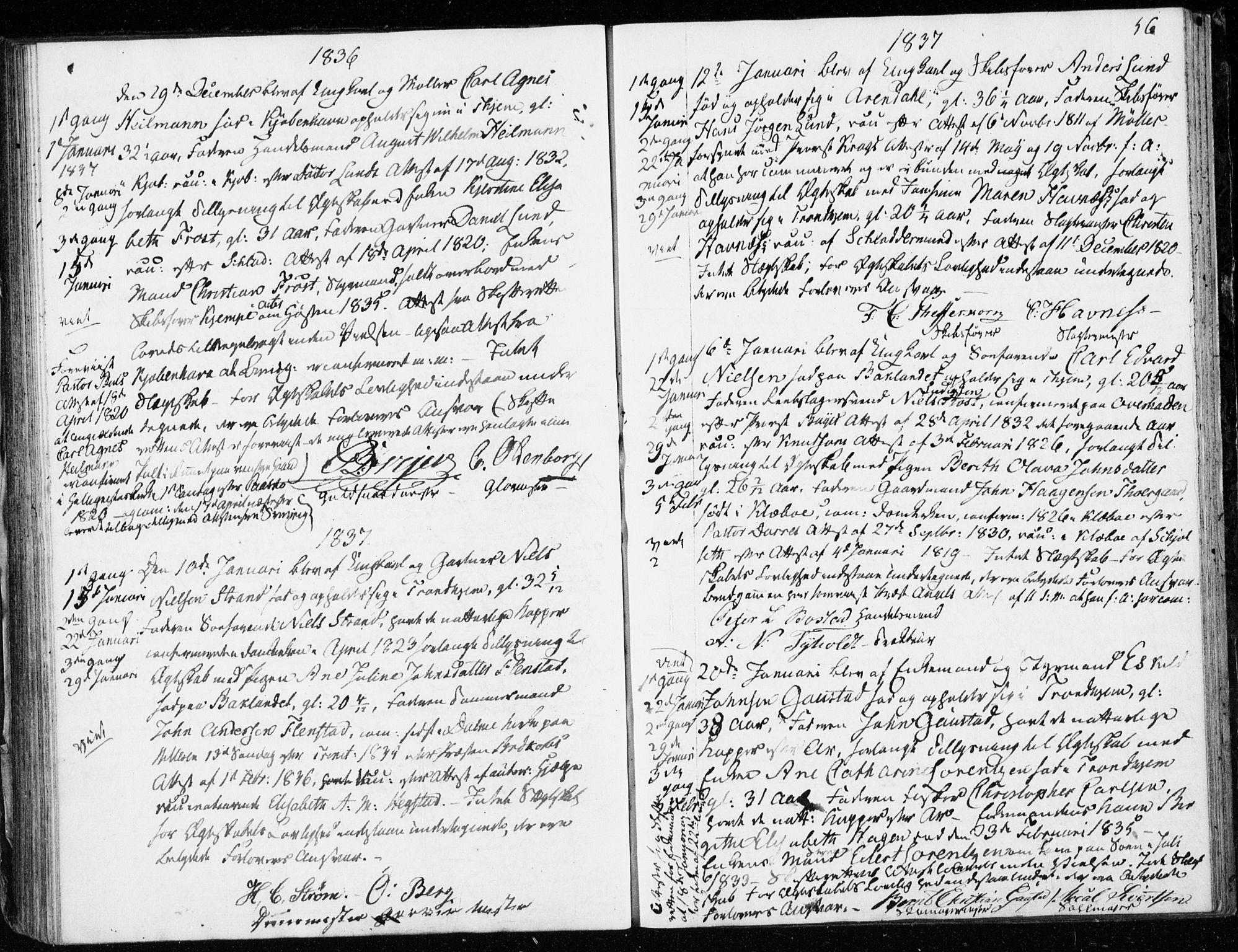 SAT, Ministerialprotokoller, klokkerbøker og fødselsregistre - Sør-Trøndelag, 601/L0046: Ministerialbok nr. 601A14, 1830-1841, s. 56
