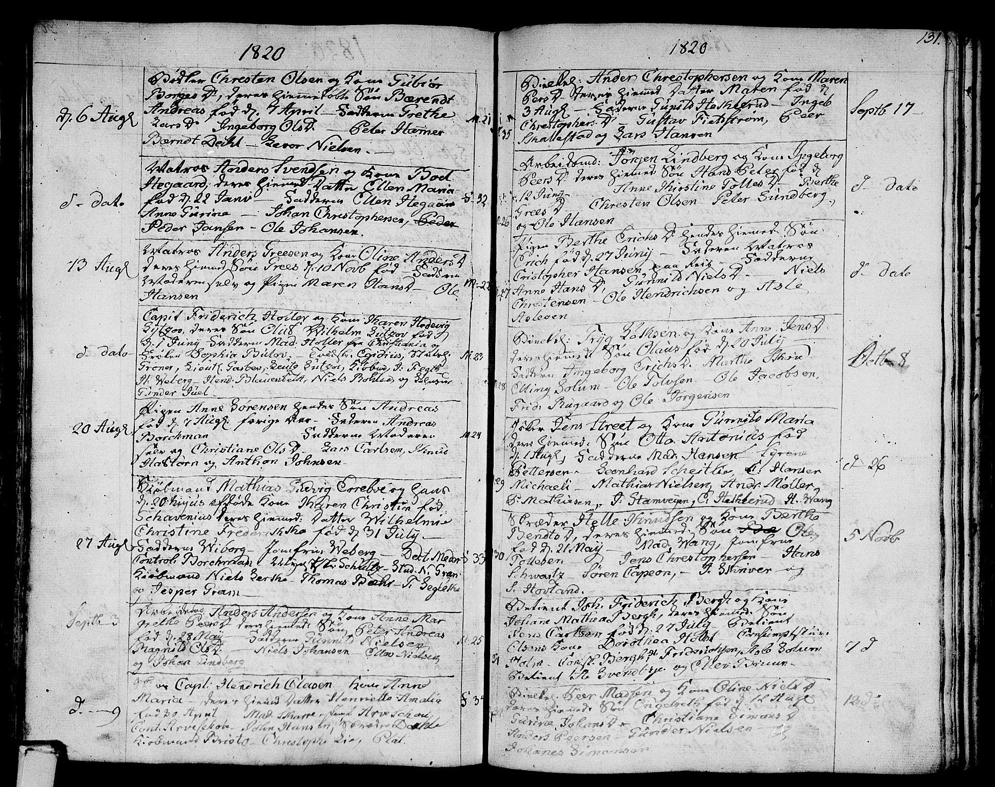 SAKO, Strømsø kirkebøker, F/Fa/L0010: Ministerialbok nr. I 10, 1792-1822, s. 131