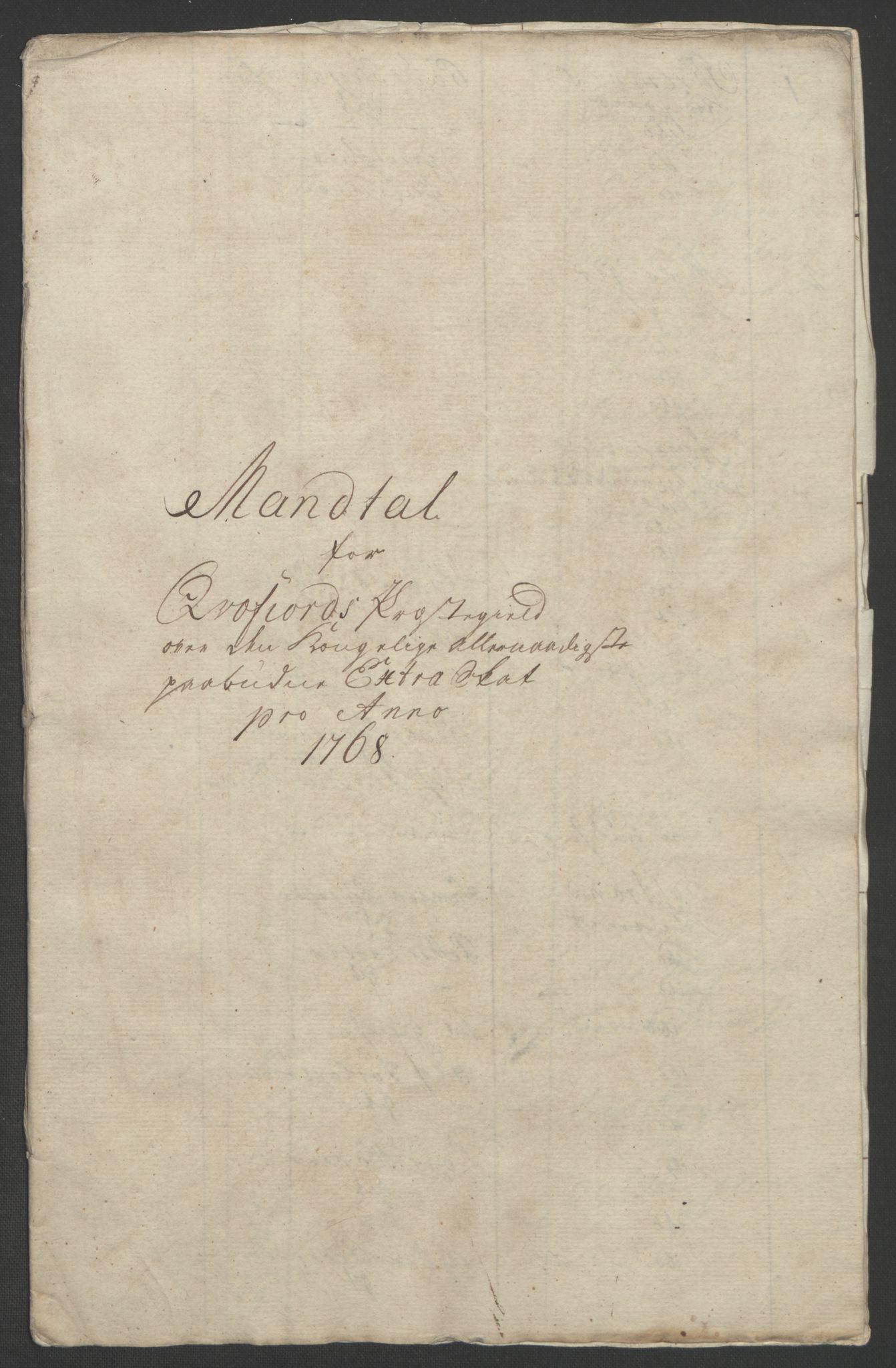 RA, Rentekammeret inntil 1814, Realistisk ordnet avdeling, Ol/L0022b: [Gg 10]: Ekstraskatten, 23.09.1762. Senja og Troms, 1765-1768, s. 230