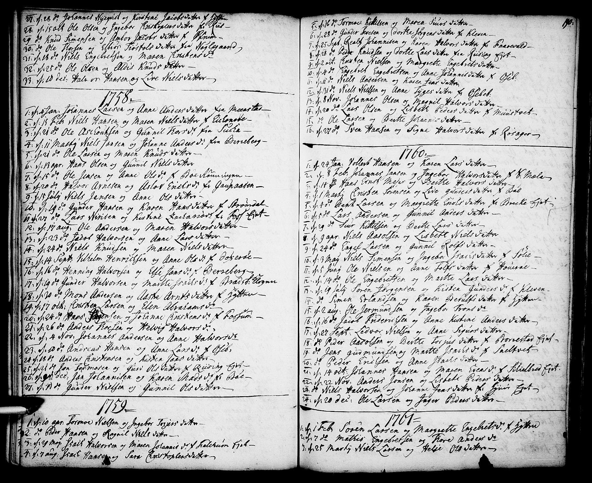 SAKO, Gjerpen kirkebøker, F/Fa/L0002: Ministerialbok nr. 2, 1747-1795, s. 190