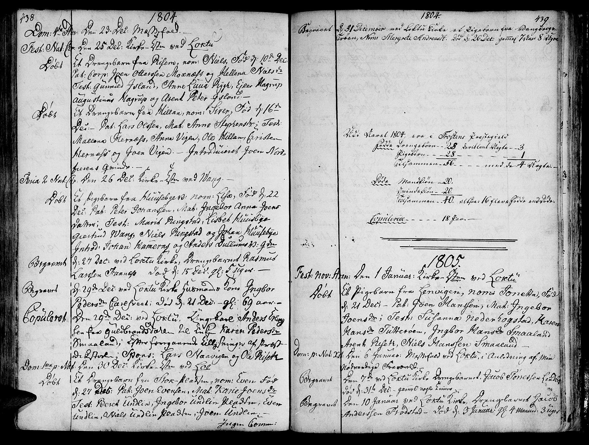 SAT, Ministerialprotokoller, klokkerbøker og fødselsregistre - Nord-Trøndelag, 713/L0110: Ministerialbok nr. 713A02, 1778-1811, s. 438-439