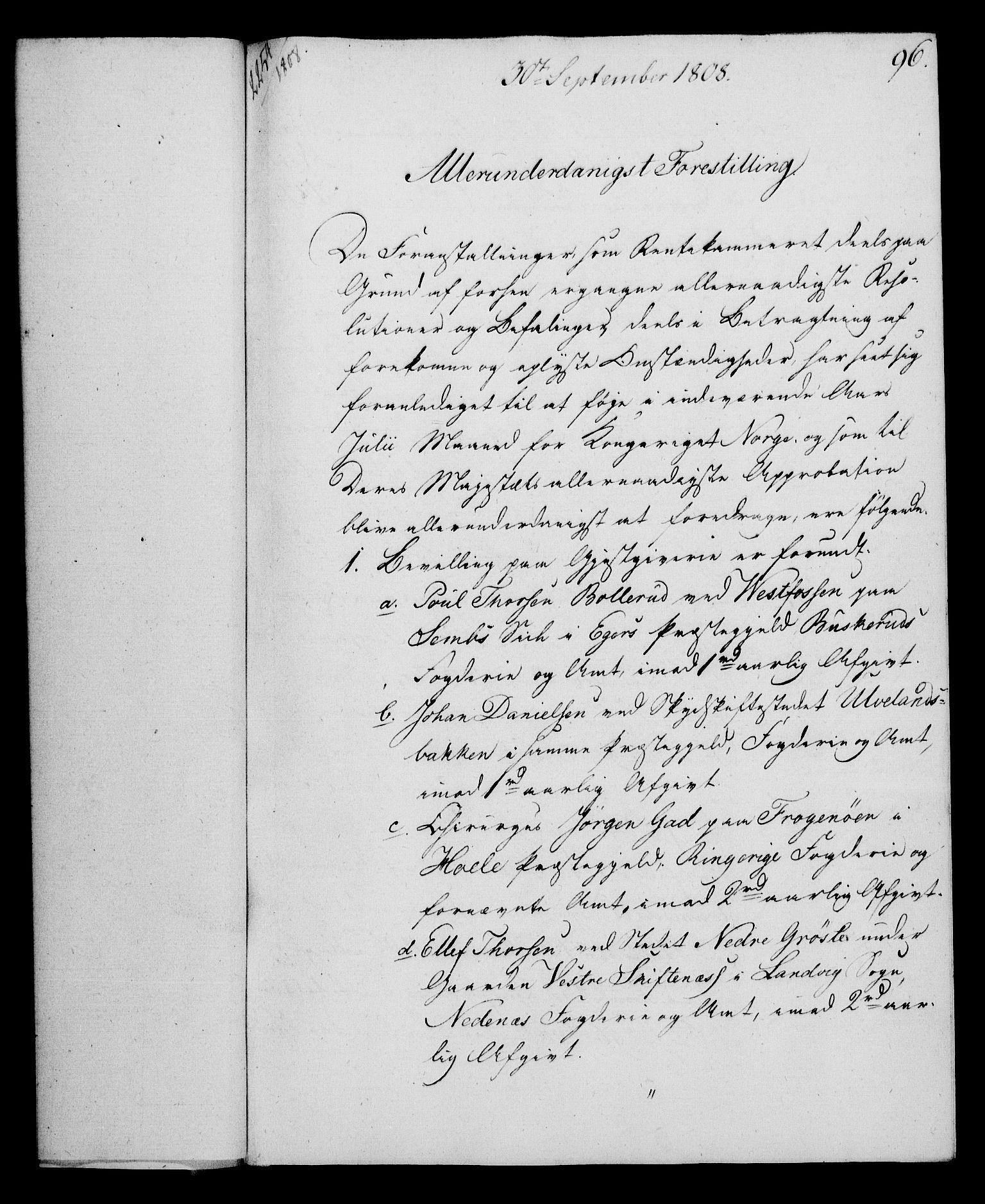RA, Rentekammeret, Kammerkanselliet, G/Gf/Gfa/L0090: Norsk relasjons- og resolusjonsprotokoll (merket RK 52.90), 1808, s. 485