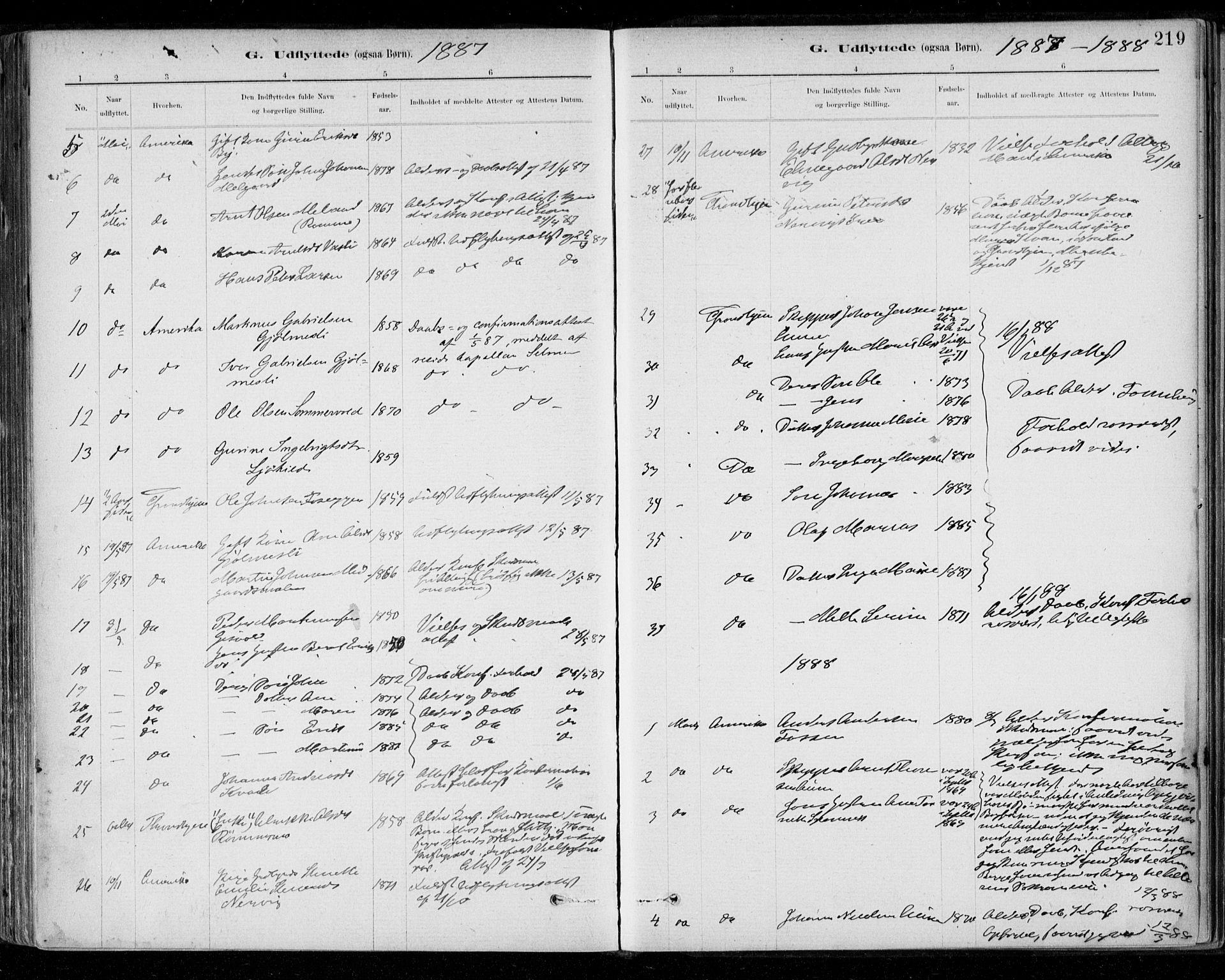 SAT, Ministerialprotokoller, klokkerbøker og fødselsregistre - Sør-Trøndelag, 668/L0810: Ministerialbok nr. 668A10, 1881-1894, s. 219