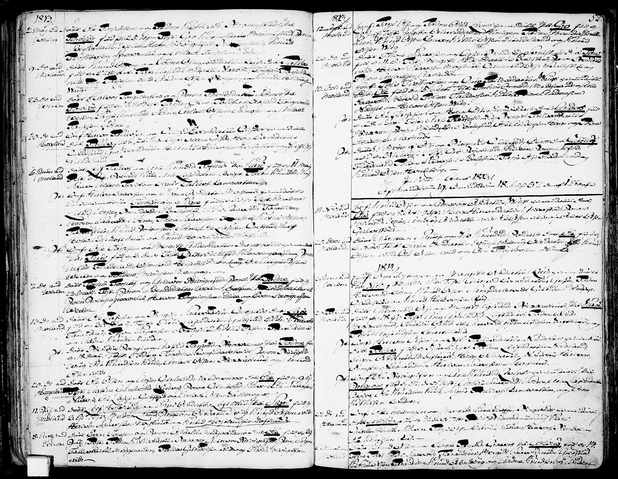 SAKO, Fyresdal kirkebøker, F/Fa/L0002: Ministerialbok nr. I 2, 1769-1814, s. 52