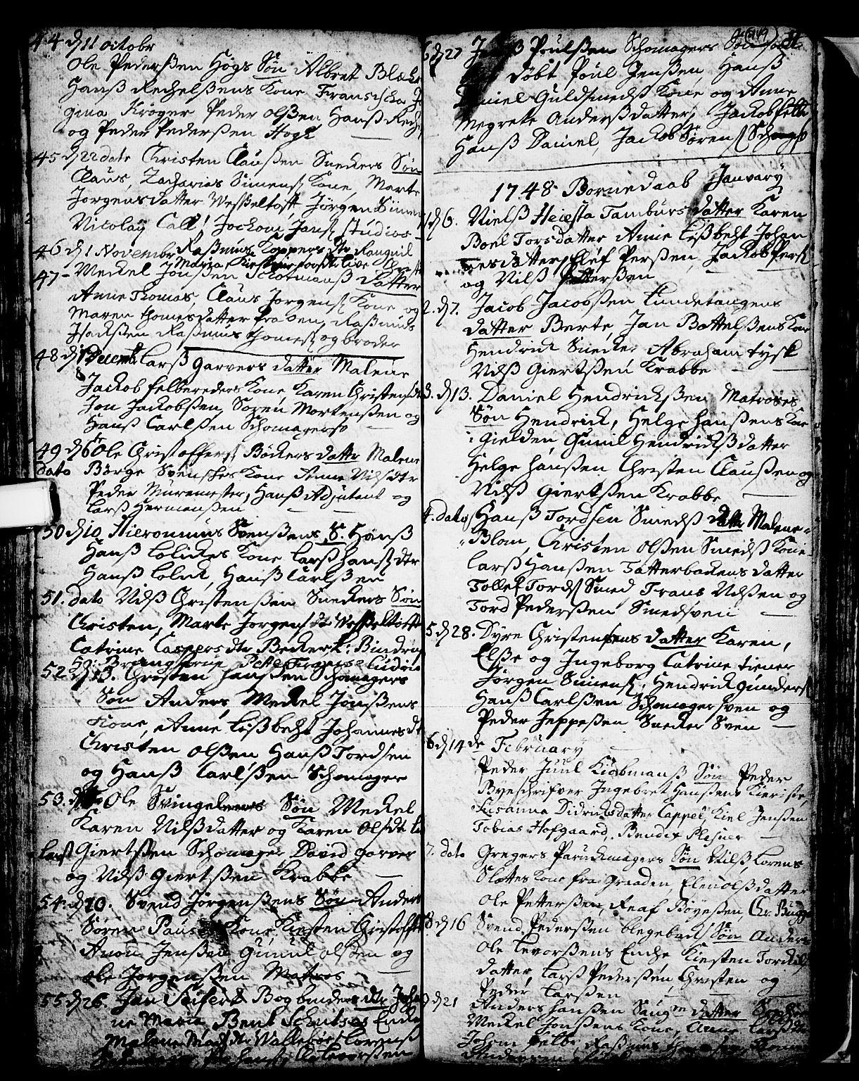 SAKO, Skien kirkebøker, F/Fa/L0002: Ministerialbok nr. 2, 1716-1757, s. 149