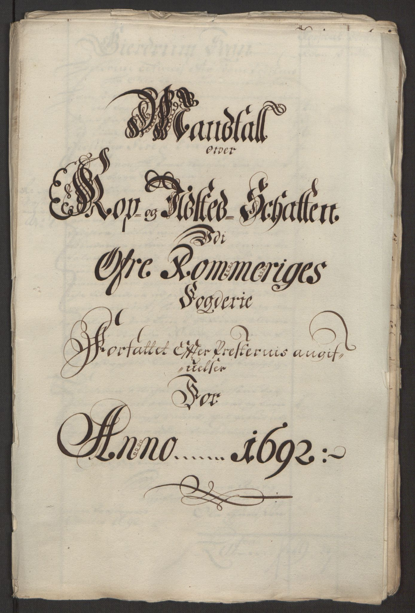 RA, Rentekammeret inntil 1814, Reviderte regnskaper, Fogderegnskap, R12/L0704: Fogderegnskap Øvre Romerike, 1692, s. 251