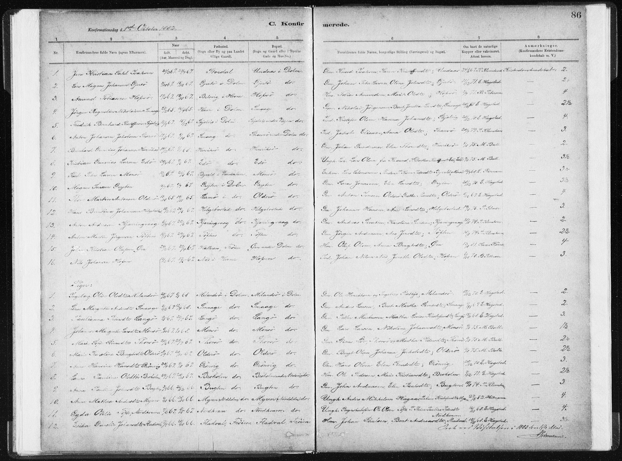 SAT, Ministerialprotokoller, klokkerbøker og fødselsregistre - Sør-Trøndelag, 634/L0533: Ministerialbok nr. 634A09, 1882-1901, s. 86