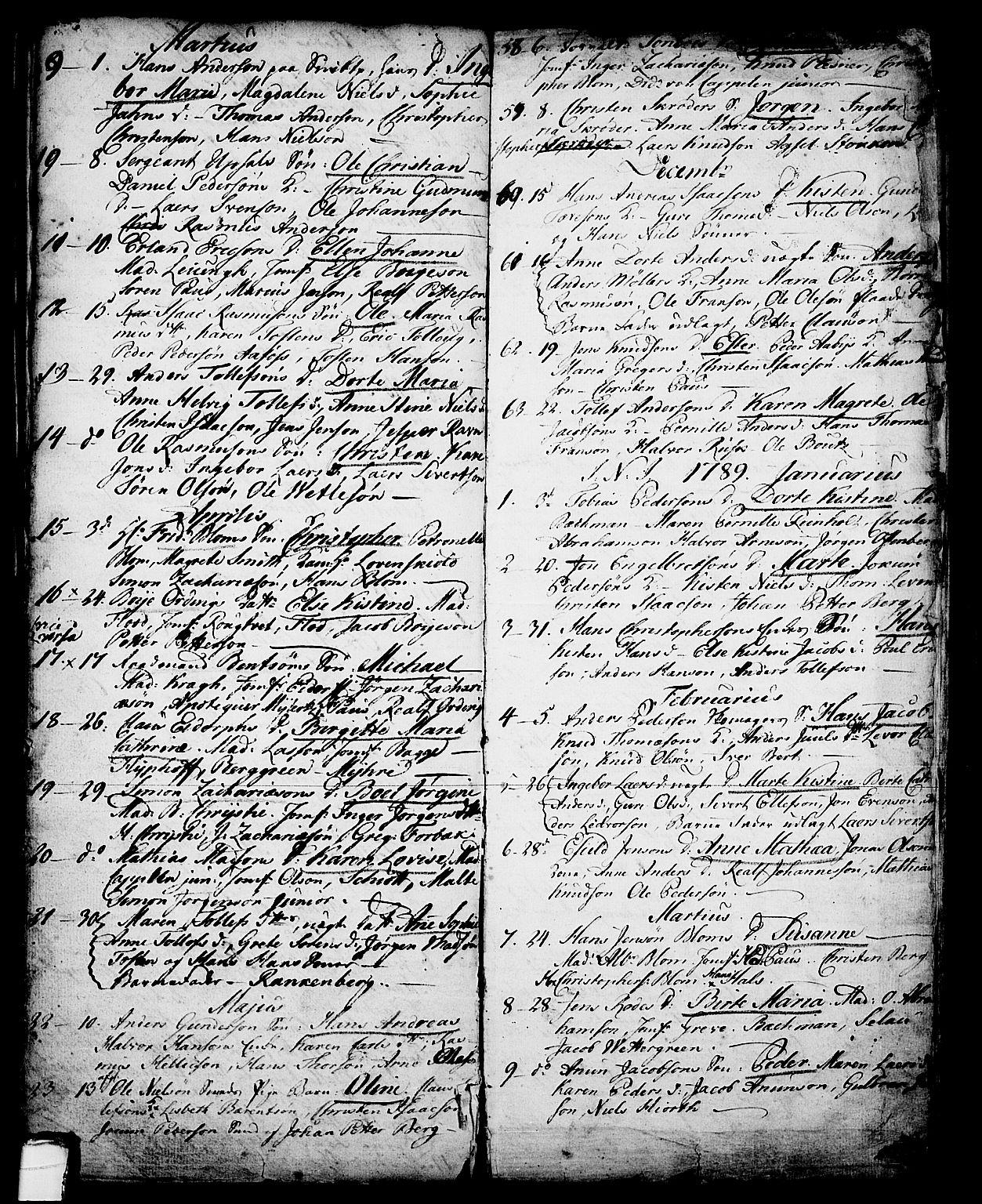 SAKO, Skien kirkebøker, G/Ga/L0001: Klokkerbok nr. 1, 1756-1791, s. 114