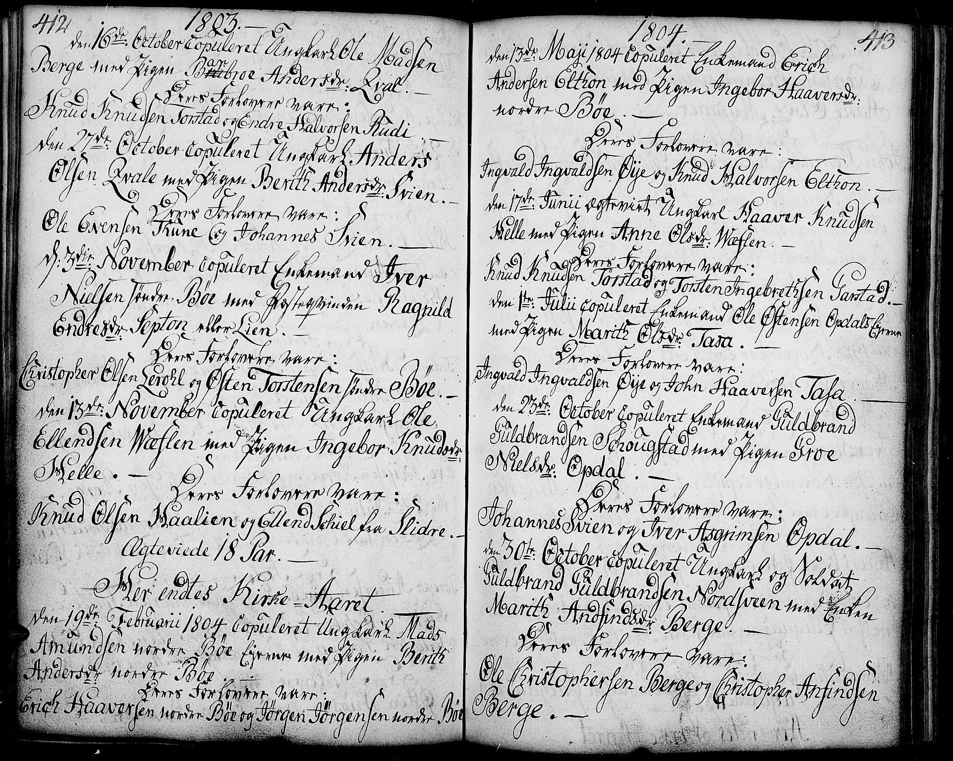 SAH, Vang prestekontor, Valdres, Ministerialbok nr. 2, 1796-1808, s. 412-413